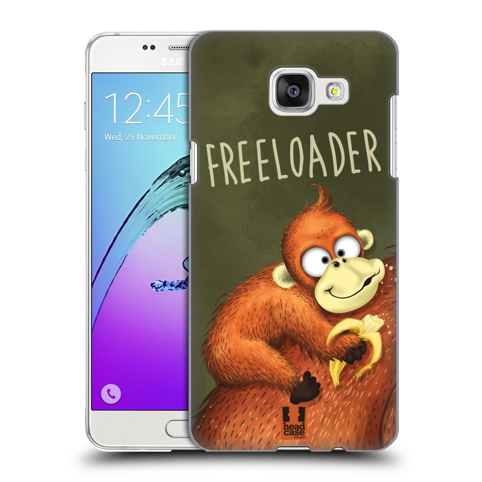 Plastové pouzdro na mobil Samsung Galaxy A5 (2016) HEAD CASE Opičák Freeloader