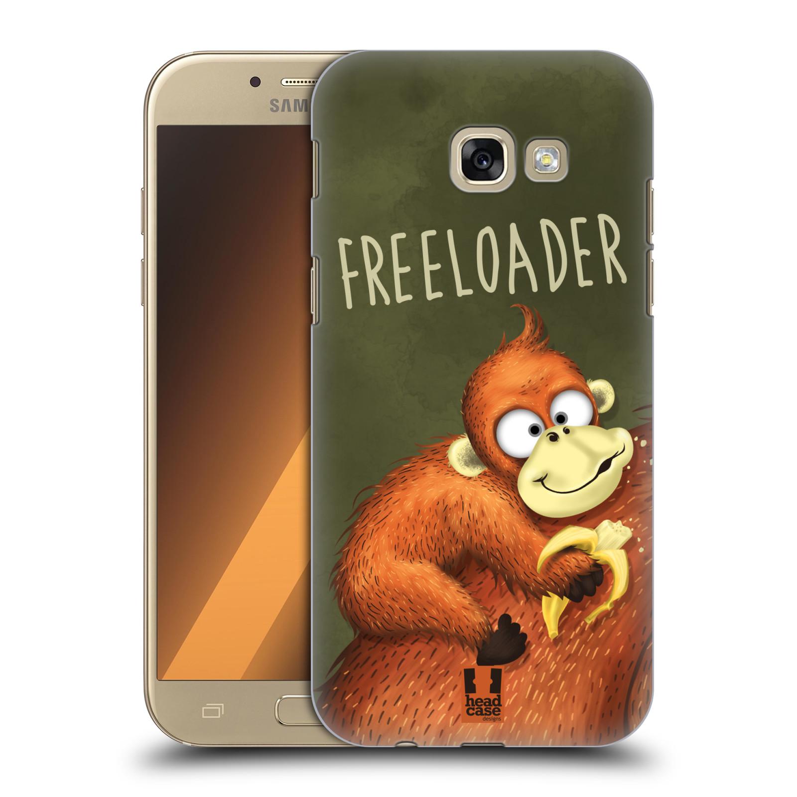 Plastové pouzdro na mobil Samsung Galaxy A5 (2017) HEAD CASE Opičák Freeloader