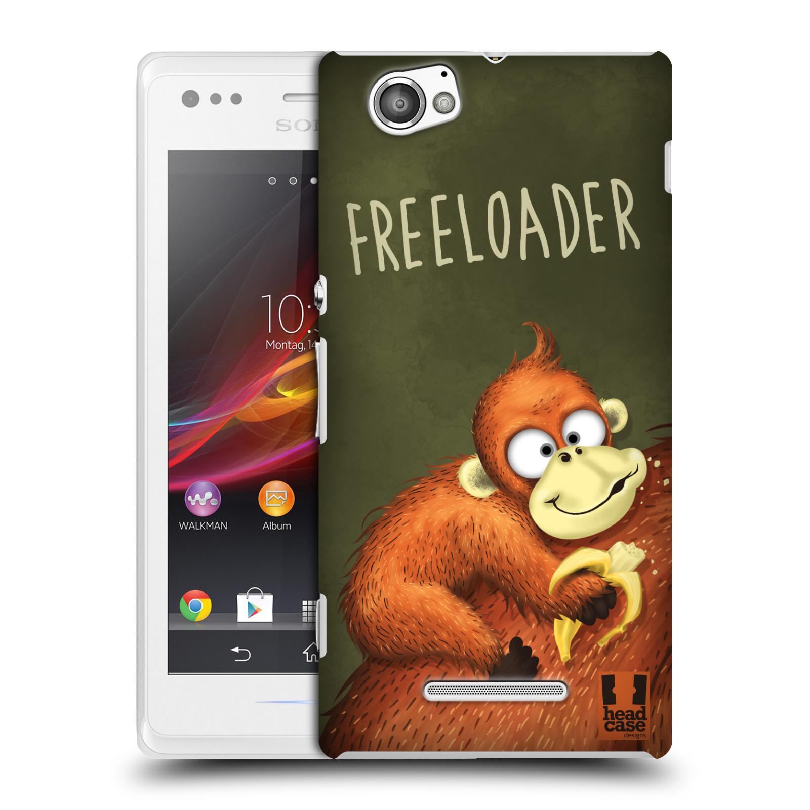 Plastové pouzdro na mobil Sony Xperia M C1905 HEAD CASE Opičák Freeloader