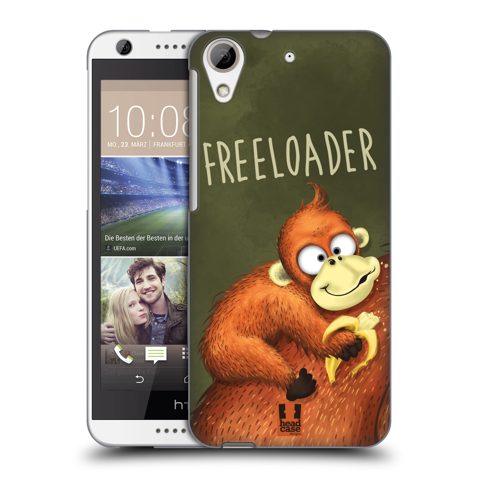 Plastové pouzdro na mobil HTC Desire 626 / 626G HEAD CASE Opičák Freeloader (Kryt či obal na mobilní telefon HTC Desire 626G Dual SIM a HTC Desire 626)