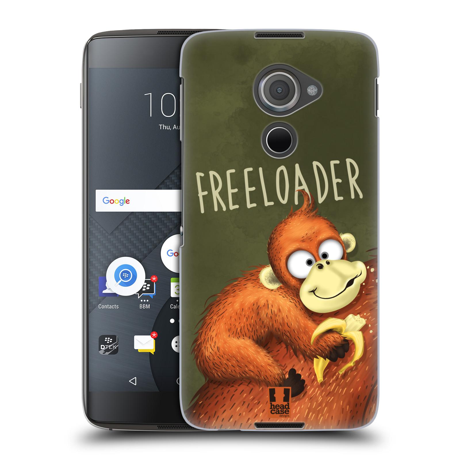 Plastové pouzdro na mobil Blackberry DTEK60 (Argon) - Head Case Opičák Freeloader