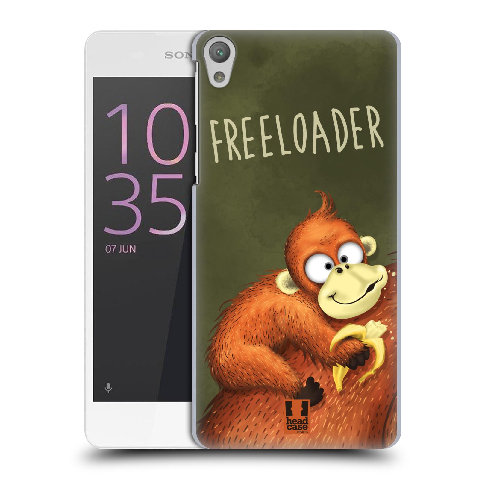 Plastové pouzdro na mobil Sony Xperia E5 HEAD CASE Opičák Freeloader