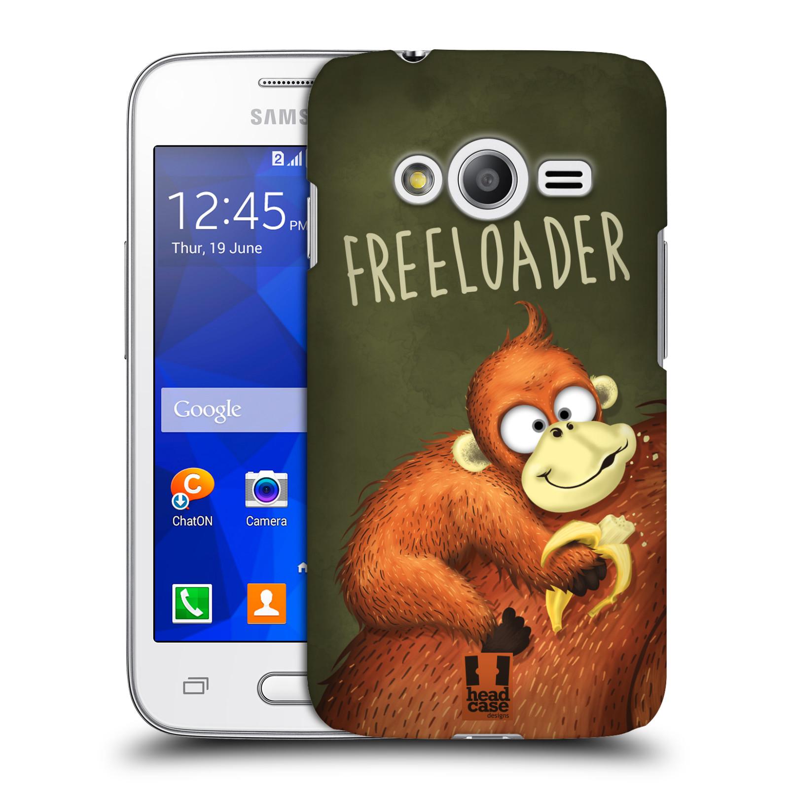 Plastové pouzdro na mobil Samsung Galaxy Trend 2 Lite HEAD CASE Opičák Freeloader (Kryt či obal na mobilní telefon Samsung Galaxy Trend 2 Lite SM-G318)