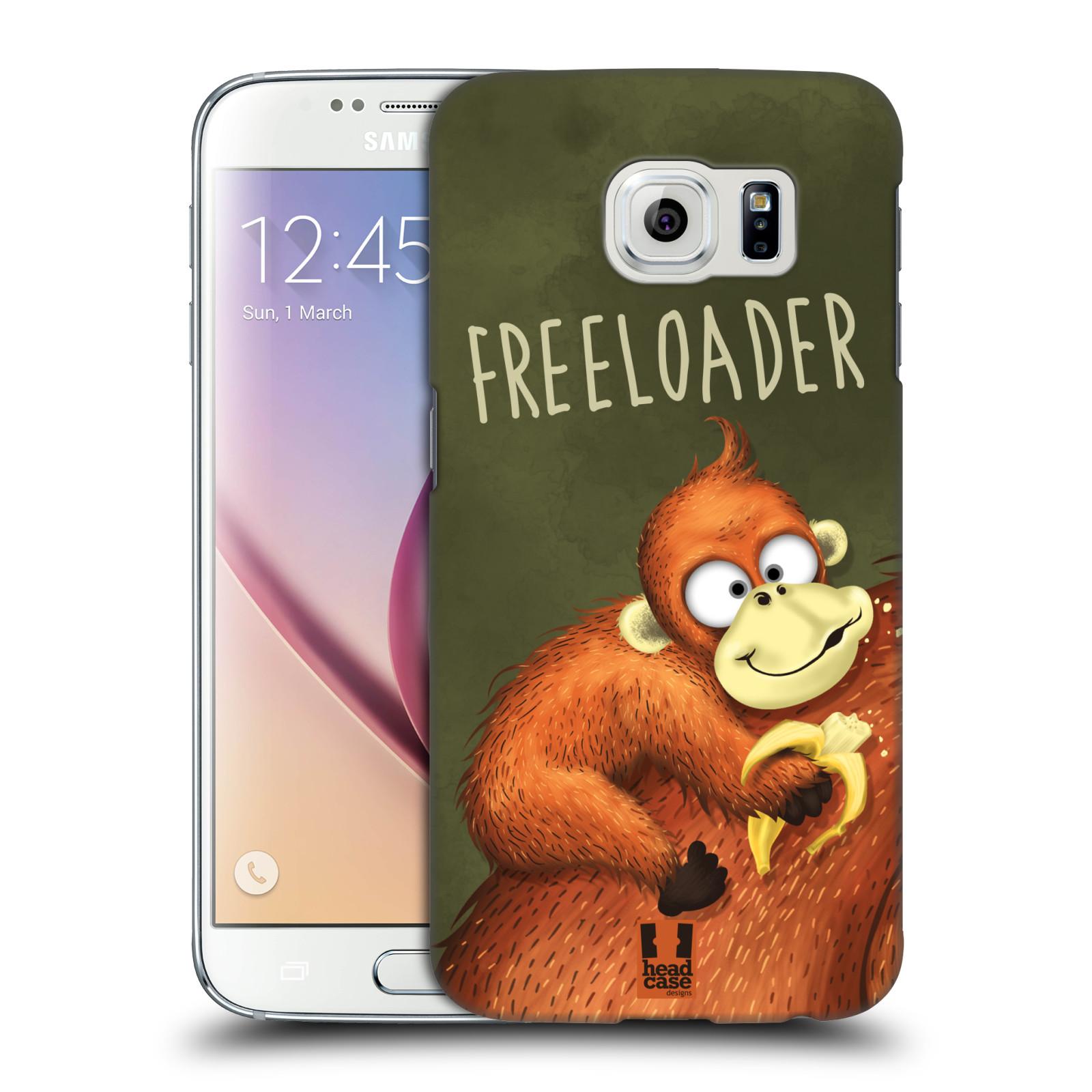Plastové pouzdro na mobil Samsung Galaxy S6 HEAD CASE Opičák Freeloader
