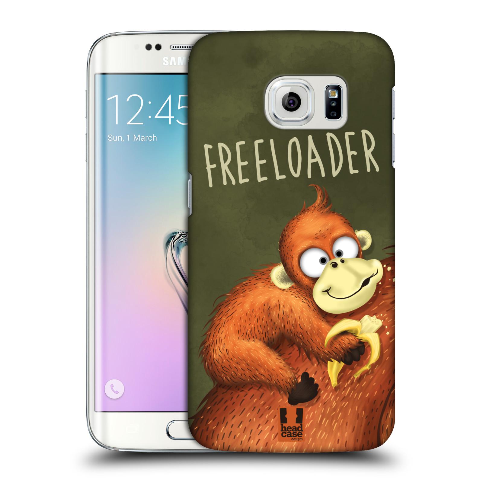 Plastové pouzdro na mobil Samsung Galaxy S6 Edge HEAD CASE Opičák Freeloader