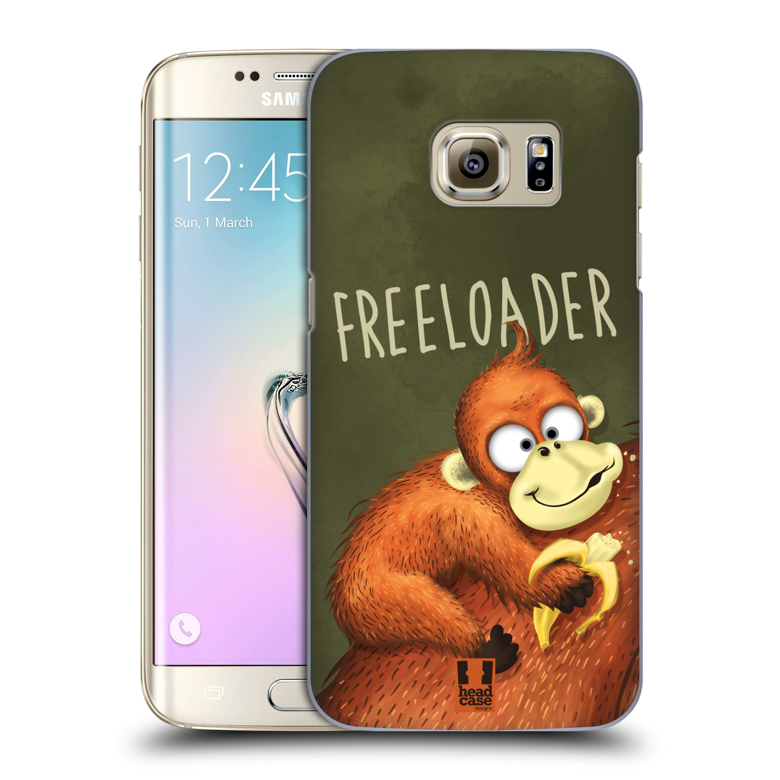 Plastové pouzdro na mobil Samsung Galaxy S7 Edge HEAD CASE Opičák Freeloader