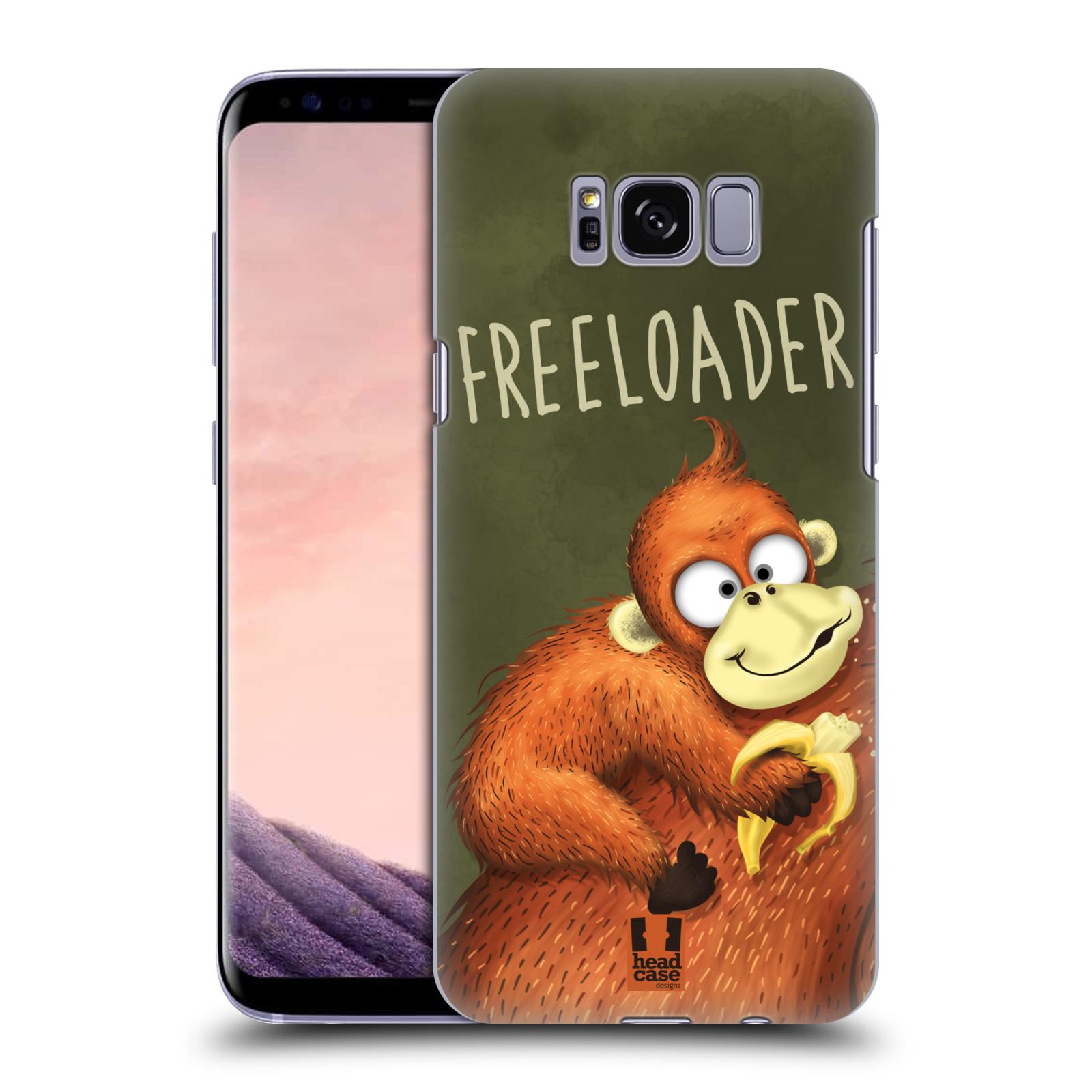 Plastové pouzdro na mobil Samsung Galaxy S8 Head Case Opičák Freeloader