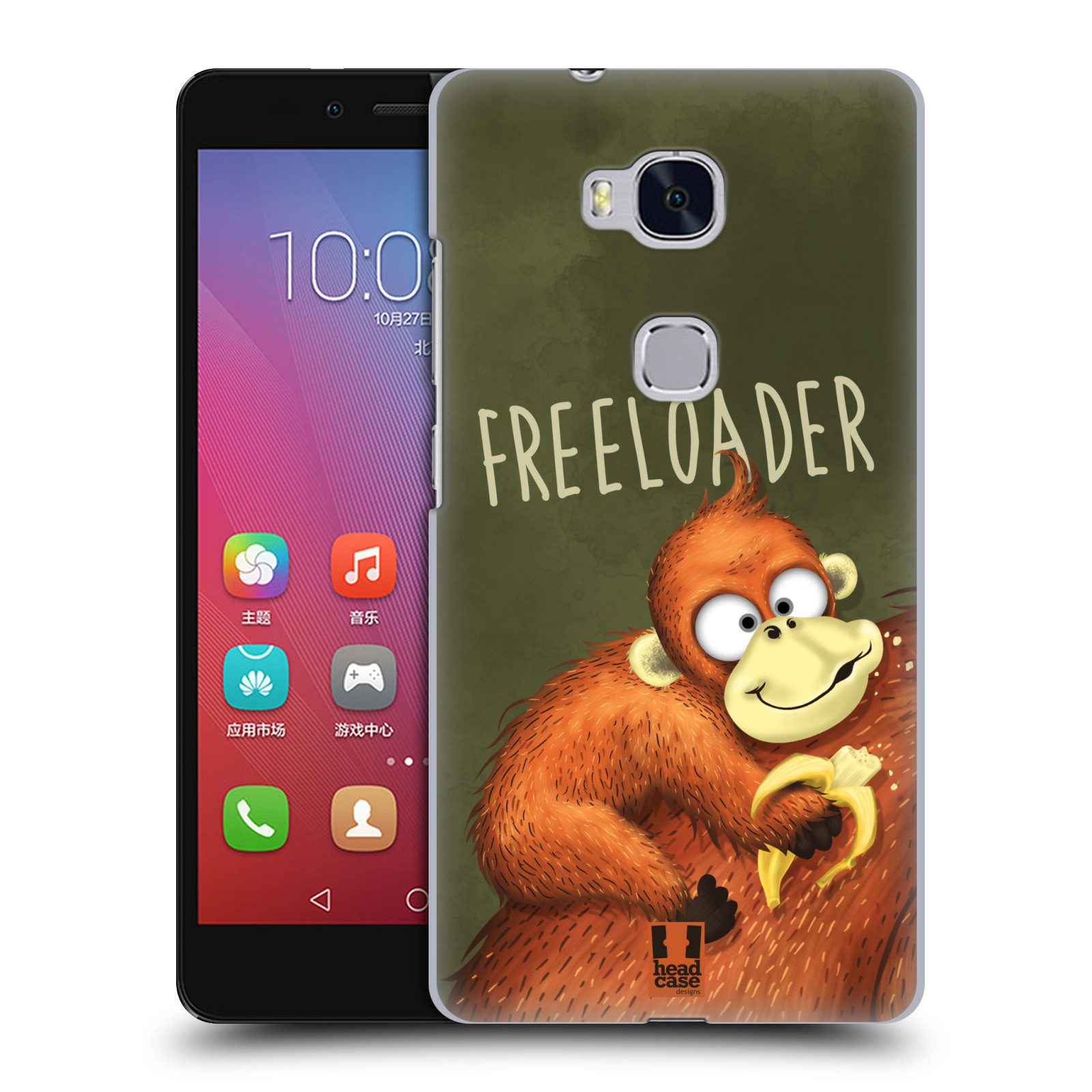 Plastové pouzdro na mobil Honor 5X HEAD CASE Opičák Freeloader