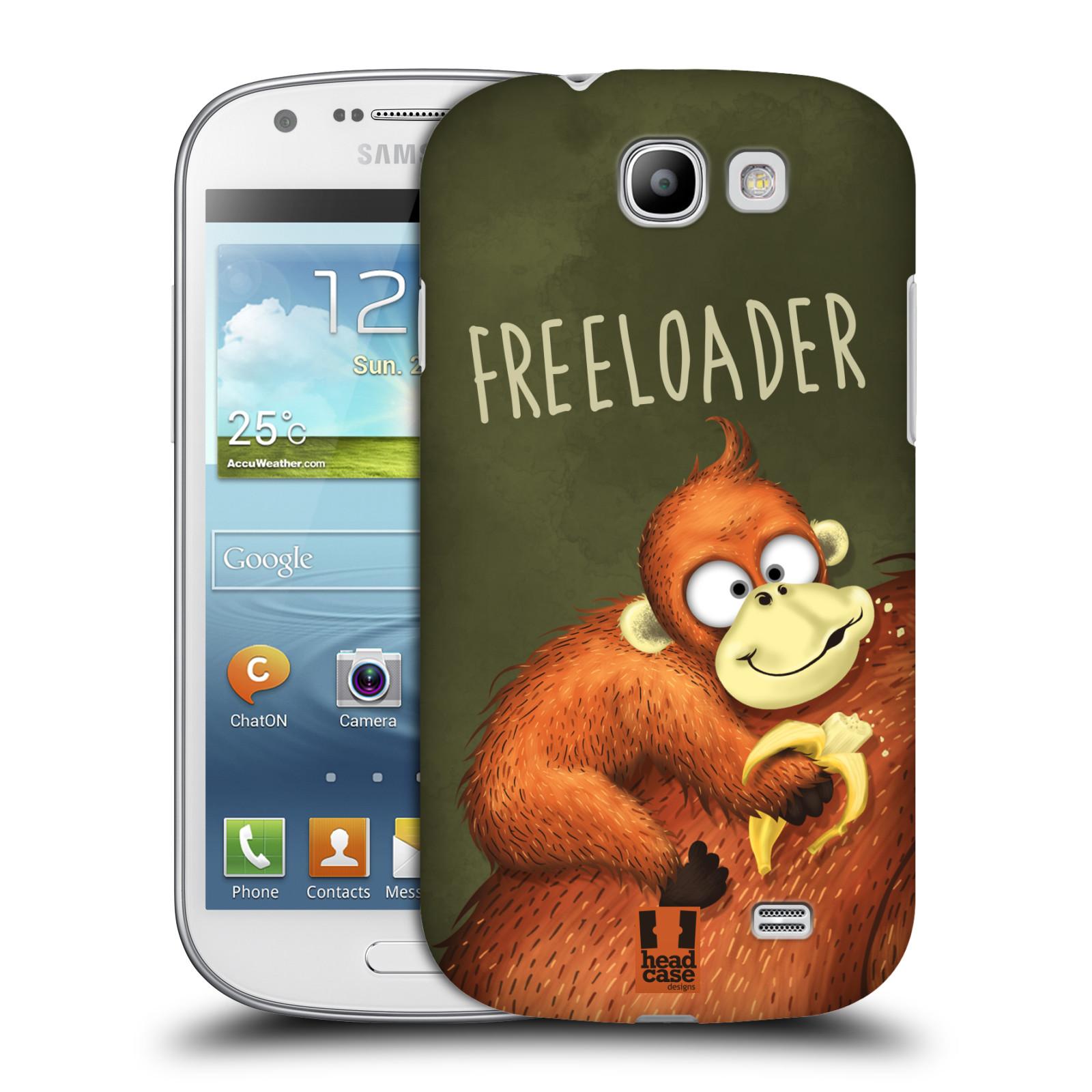 Plastové pouzdro na mobil Samsung Galaxy Express HEAD CASE Opičák Freeloader (Kryt či obal na mobilní telefon Samsung Galaxy Express GT-i8730)