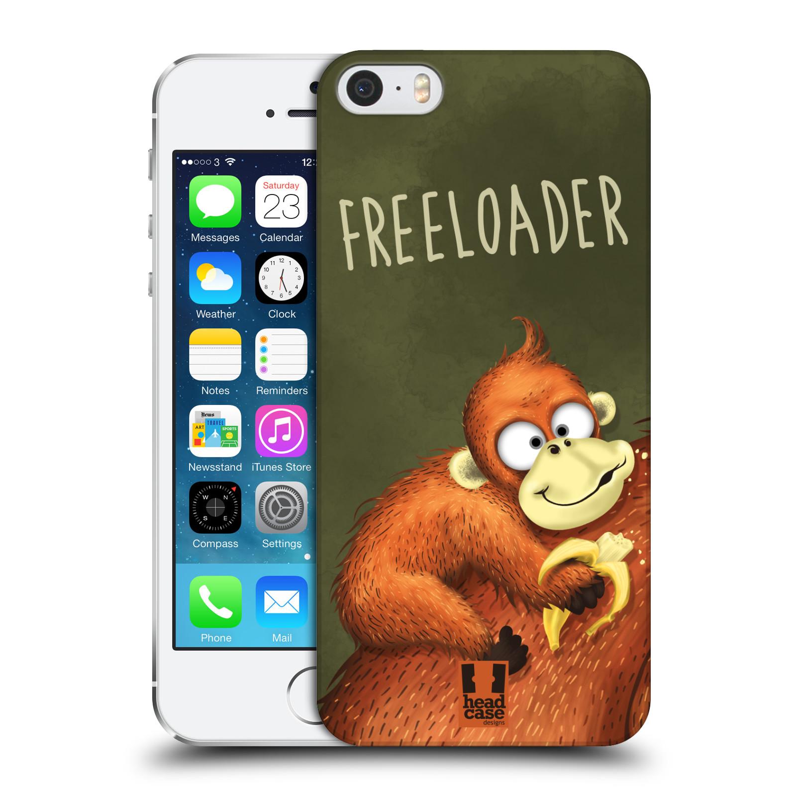 Plastové pouzdro na mobil Apple iPhone SE, 5 a 5S HEAD CASE Opičák Freeloader