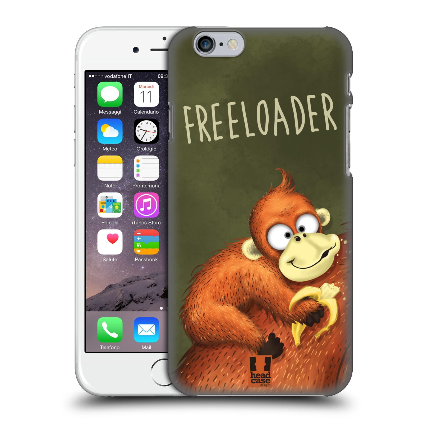 Plastové pouzdro na mobil Apple iPhone 6 HEAD CASE Opičák Freeloader