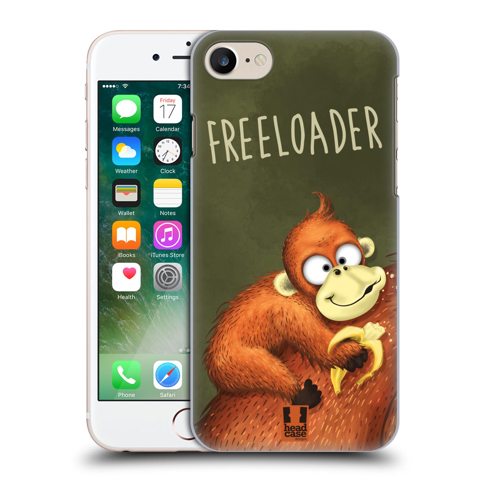 Plastové pouzdro na mobil Apple iPhone 7 HEAD CASE Opičák Freeloader