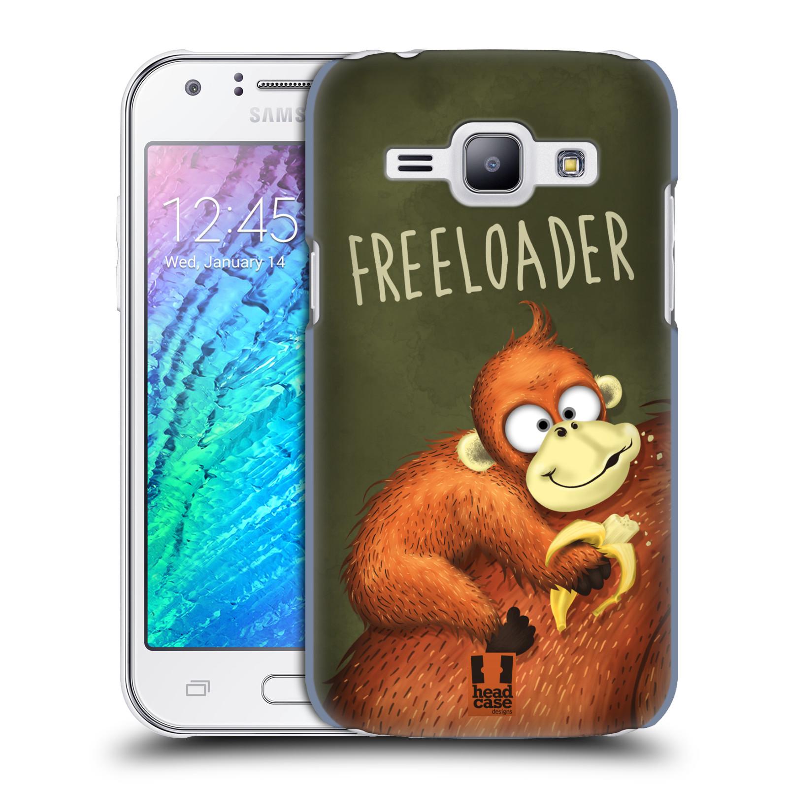 Plastové pouzdro na mobil Samsung Galaxy J1 HEAD CASE Opičák Freeloader (Kryt či obal na mobilní telefon Samsung Galaxy J1 a J1 Duos )