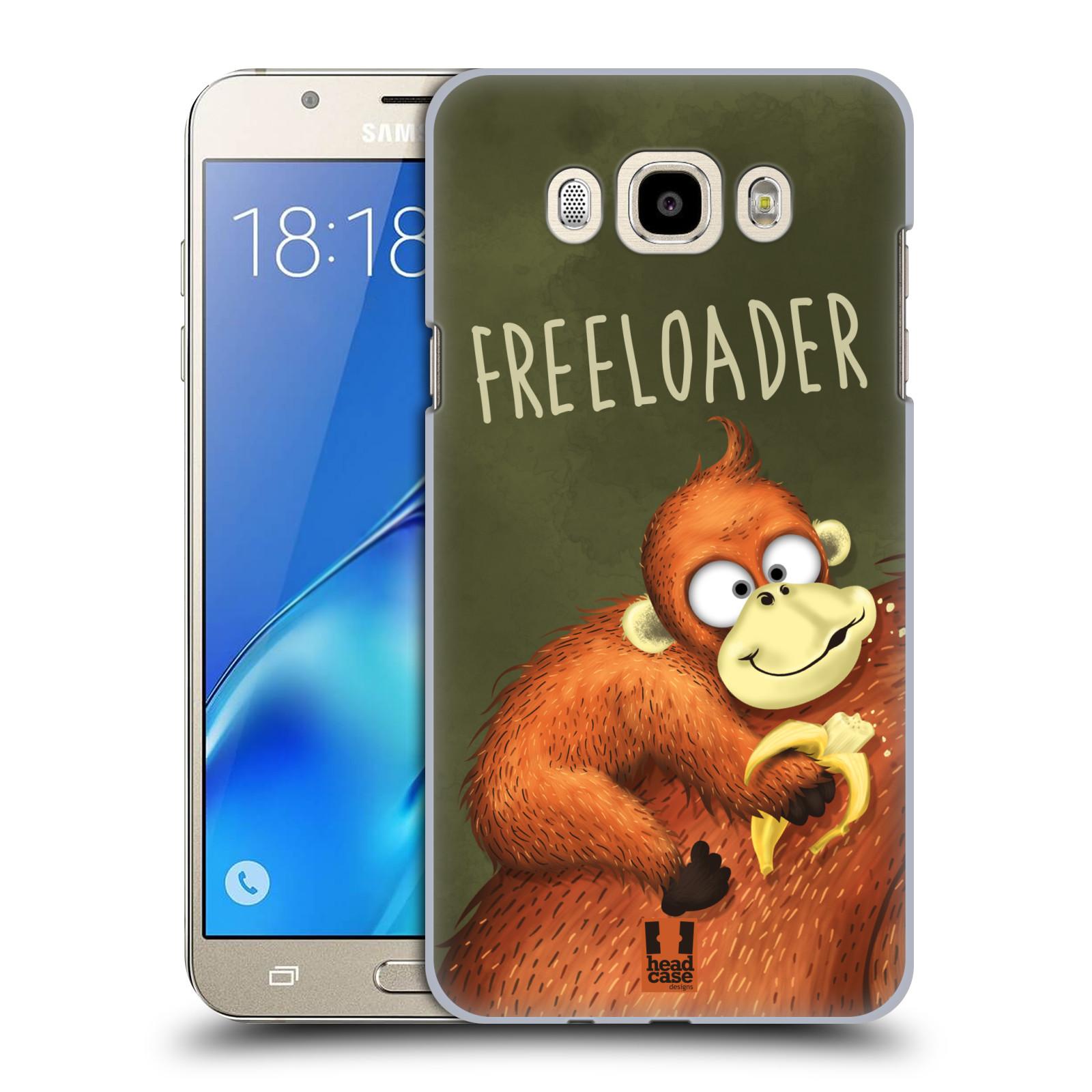 Plastové pouzdro na mobil Samsung Galaxy J7 (2016) HEAD CASE Opičák Freeloader