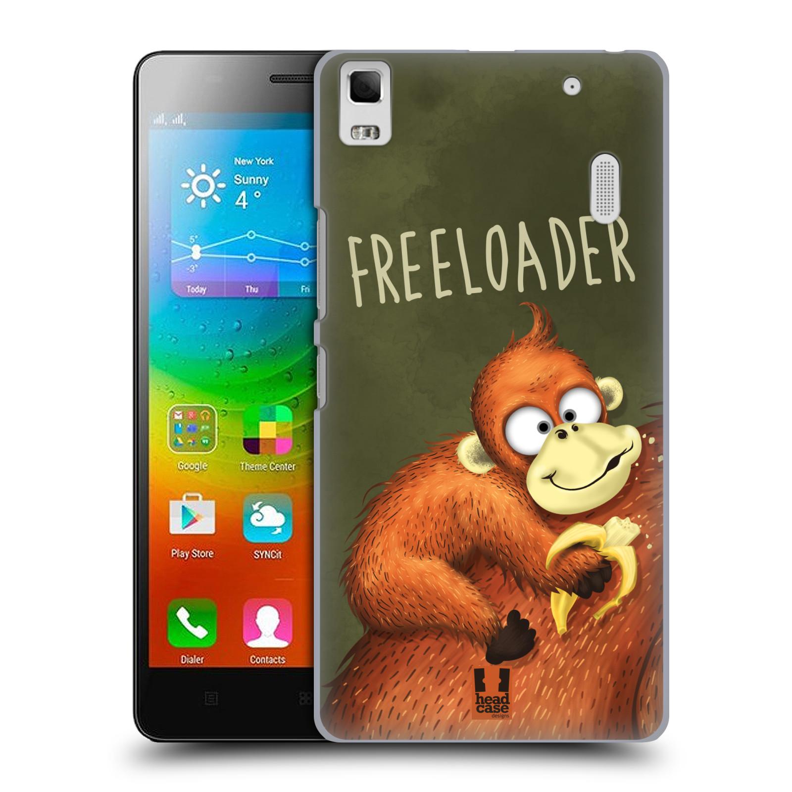 Plastové pouzdro na mobil Lenovo A7000 HEAD CASE Opičák Freeloader