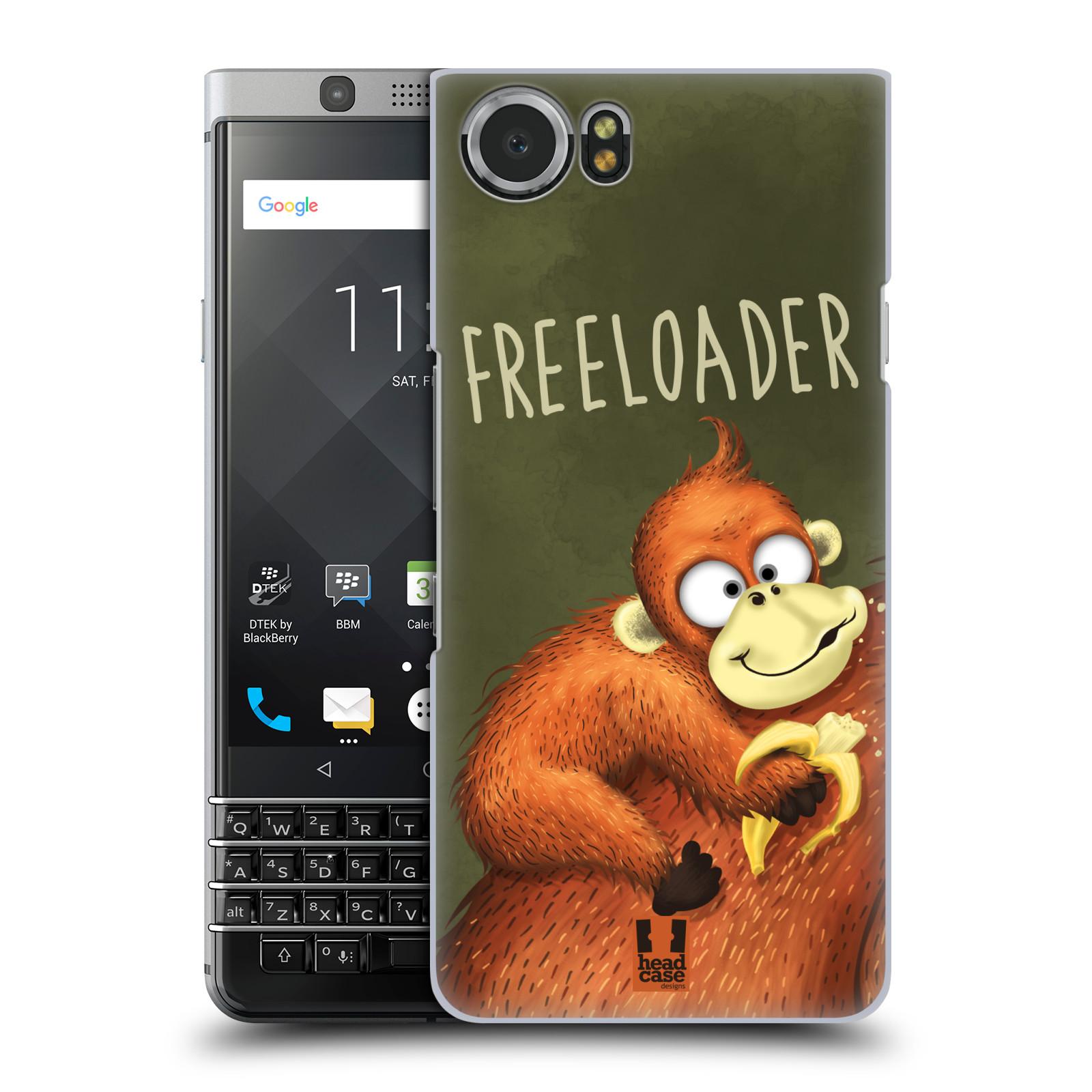 Plastové pouzdro na mobil BlackBerry KEYone - Head Case - Opičák Freeloader