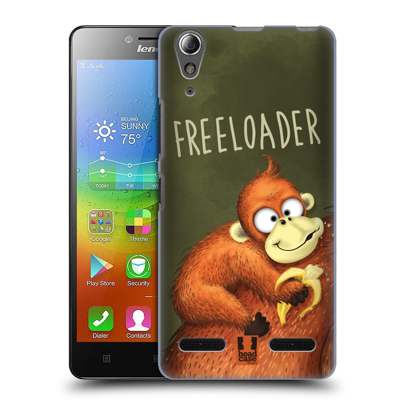 Plastové pouzdro na mobil Lenovo A6000 HEAD CASE Opičák Freeloader