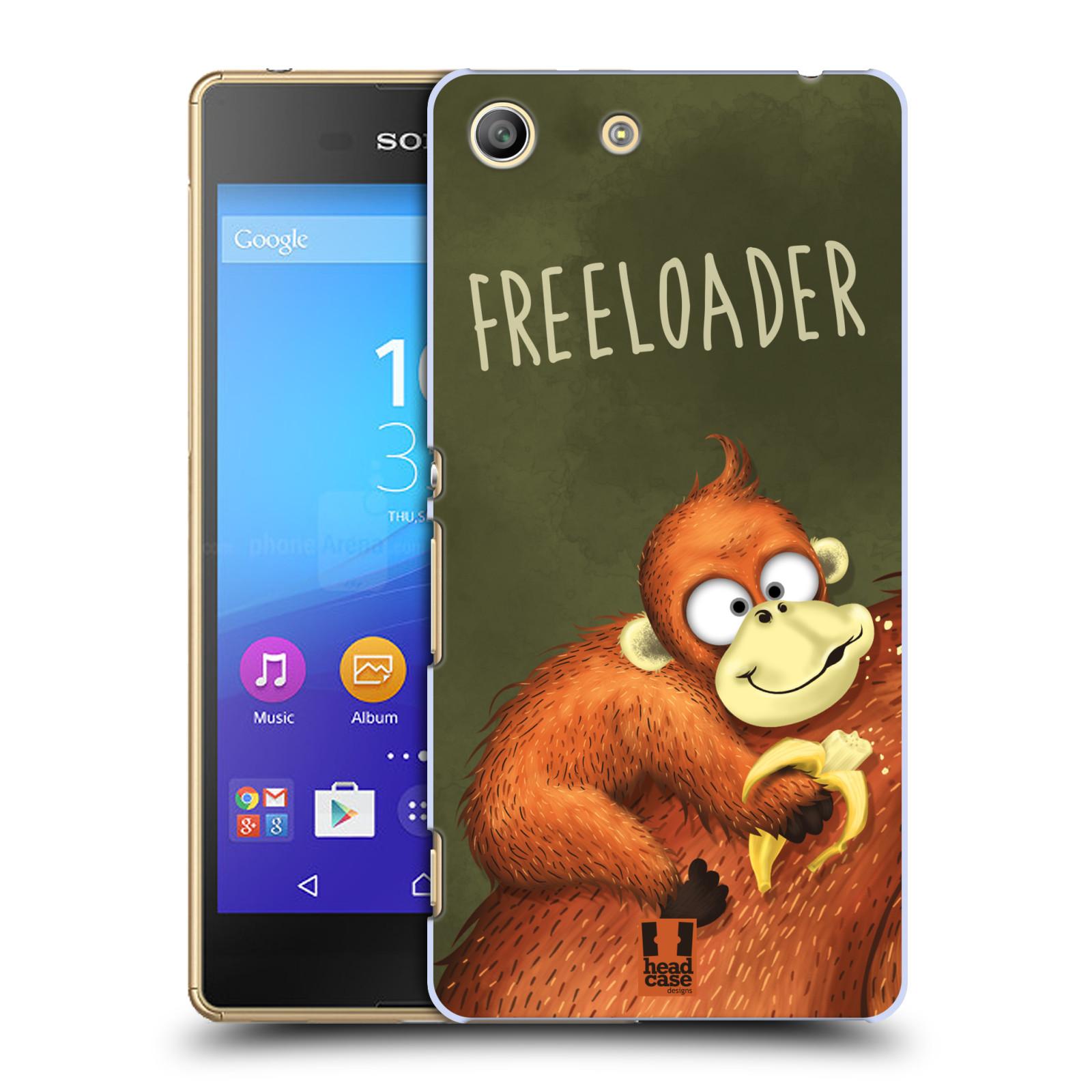 Plastové pouzdro na mobil Sony Xperia M5 HEAD CASE Opičák Freeloader