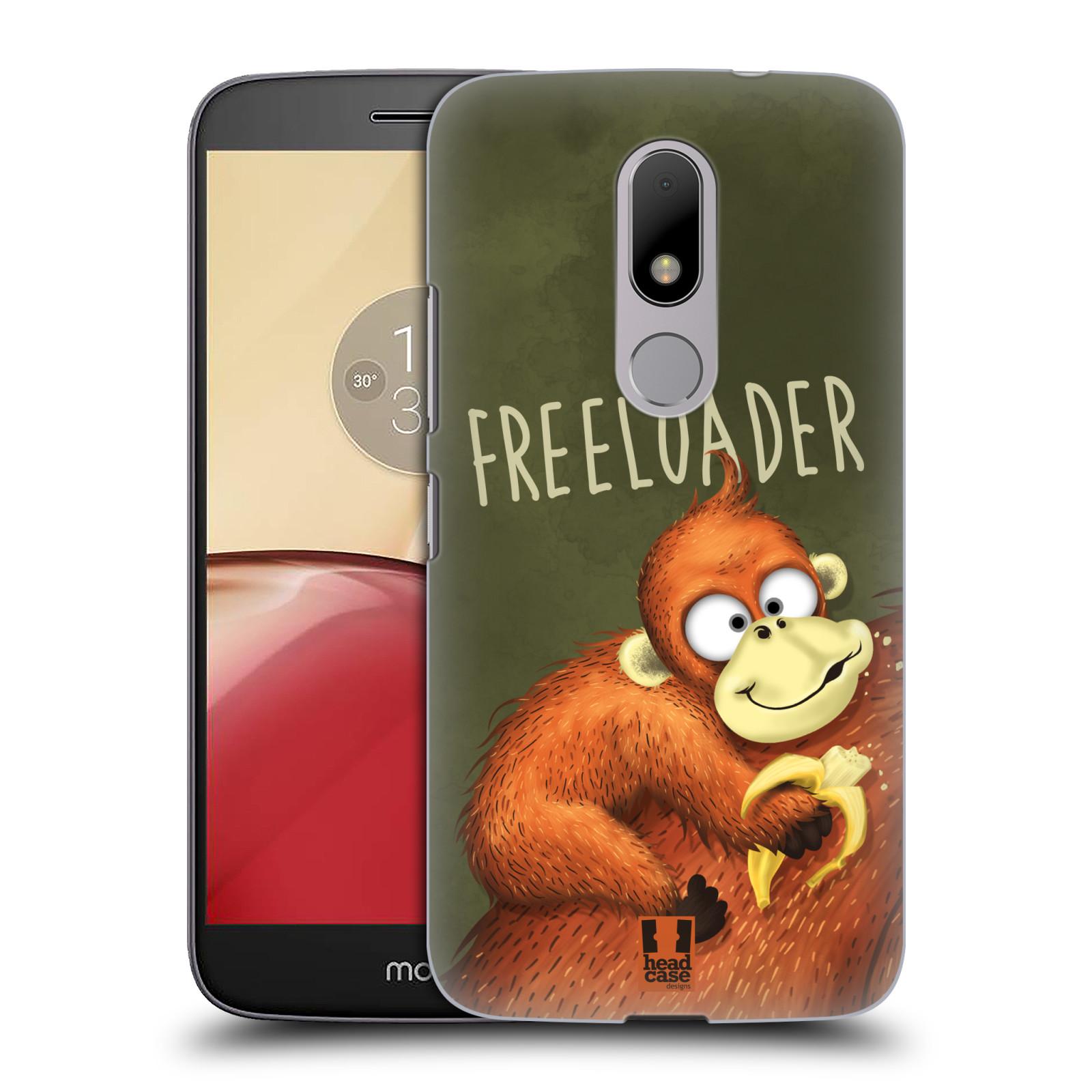 Plastové pouzdro na mobil Lenovo Moto M HEAD CASE Opičák Freeloader