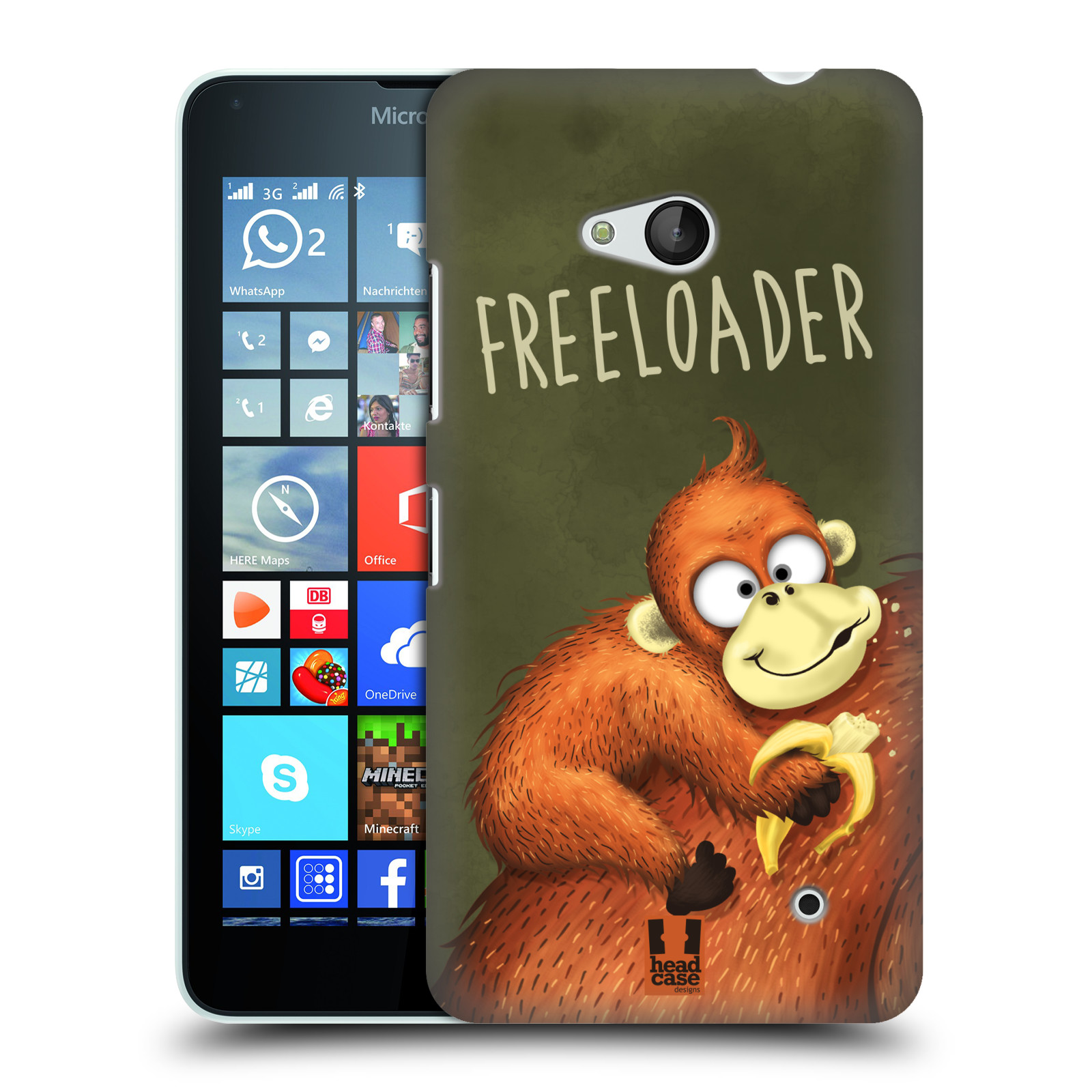 Plastové pouzdro na mobil Microsoft Lumia 640 HEAD CASE Opičák Freeloader