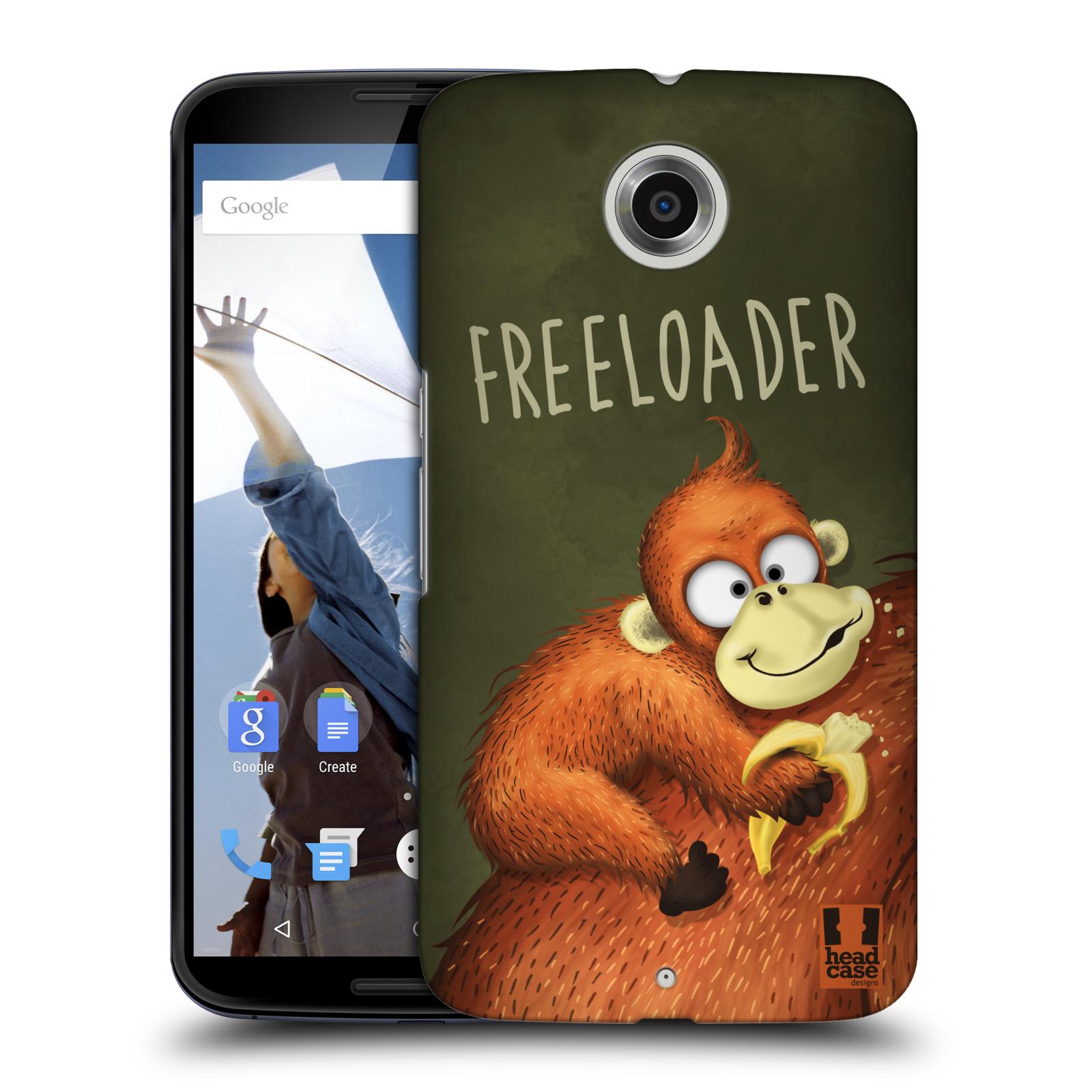 Plastové pouzdro na mobil Motorola Nexus 6 HEAD CASE Opičák Freeloader (Kryt či obal na mobilní telefon Motorola Nexus 6)