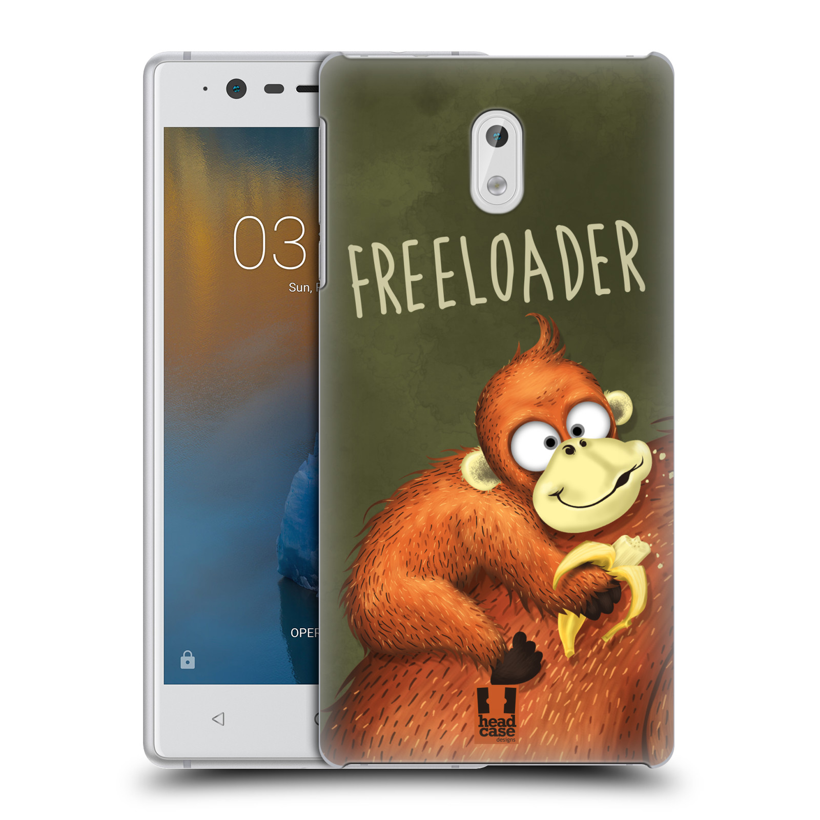 Plastové pouzdro na mobil Nokia 3 Head Case - Opičák Freeloader