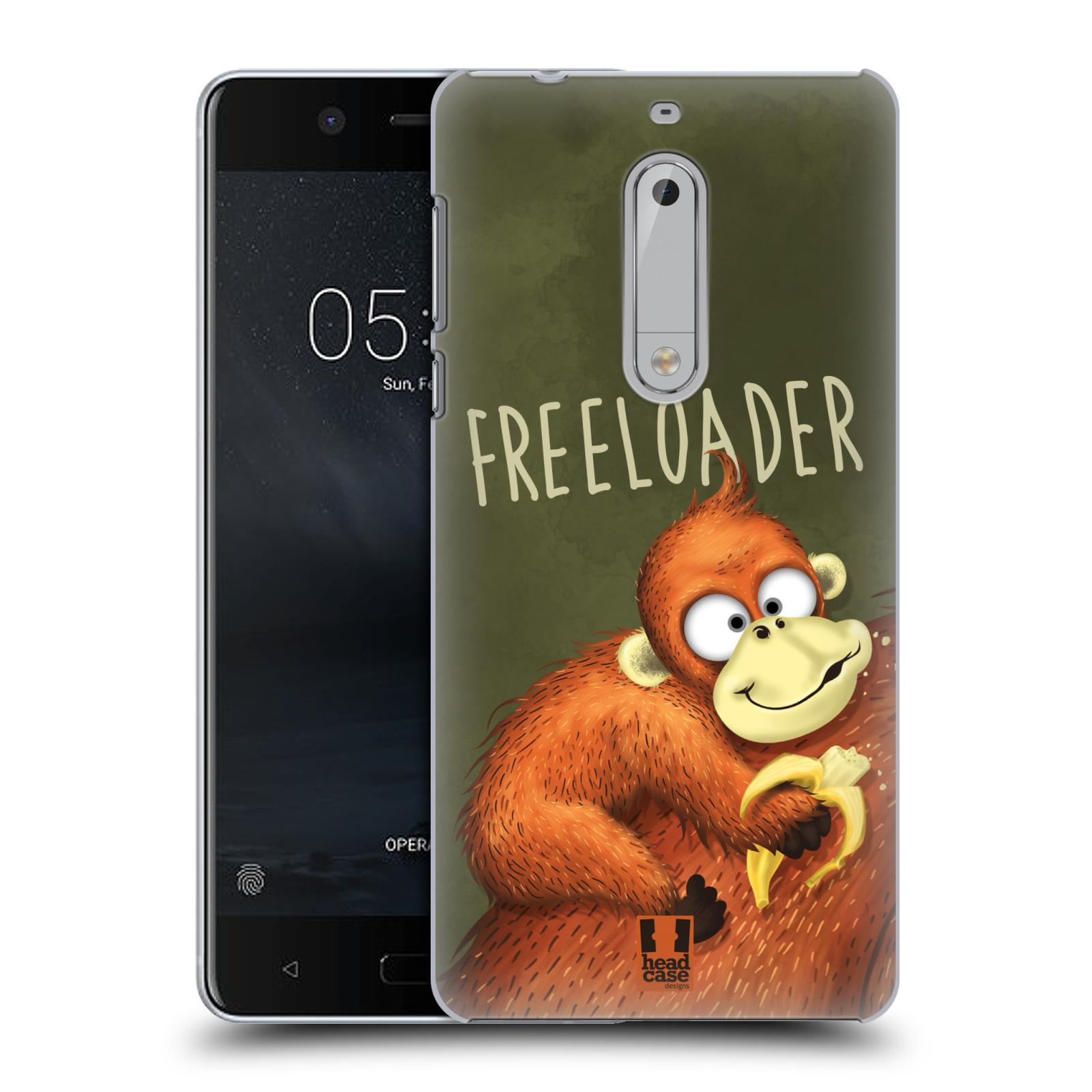 Plastové pouzdro na mobil Nokia 5 Head Case - Opičák Freeloader
