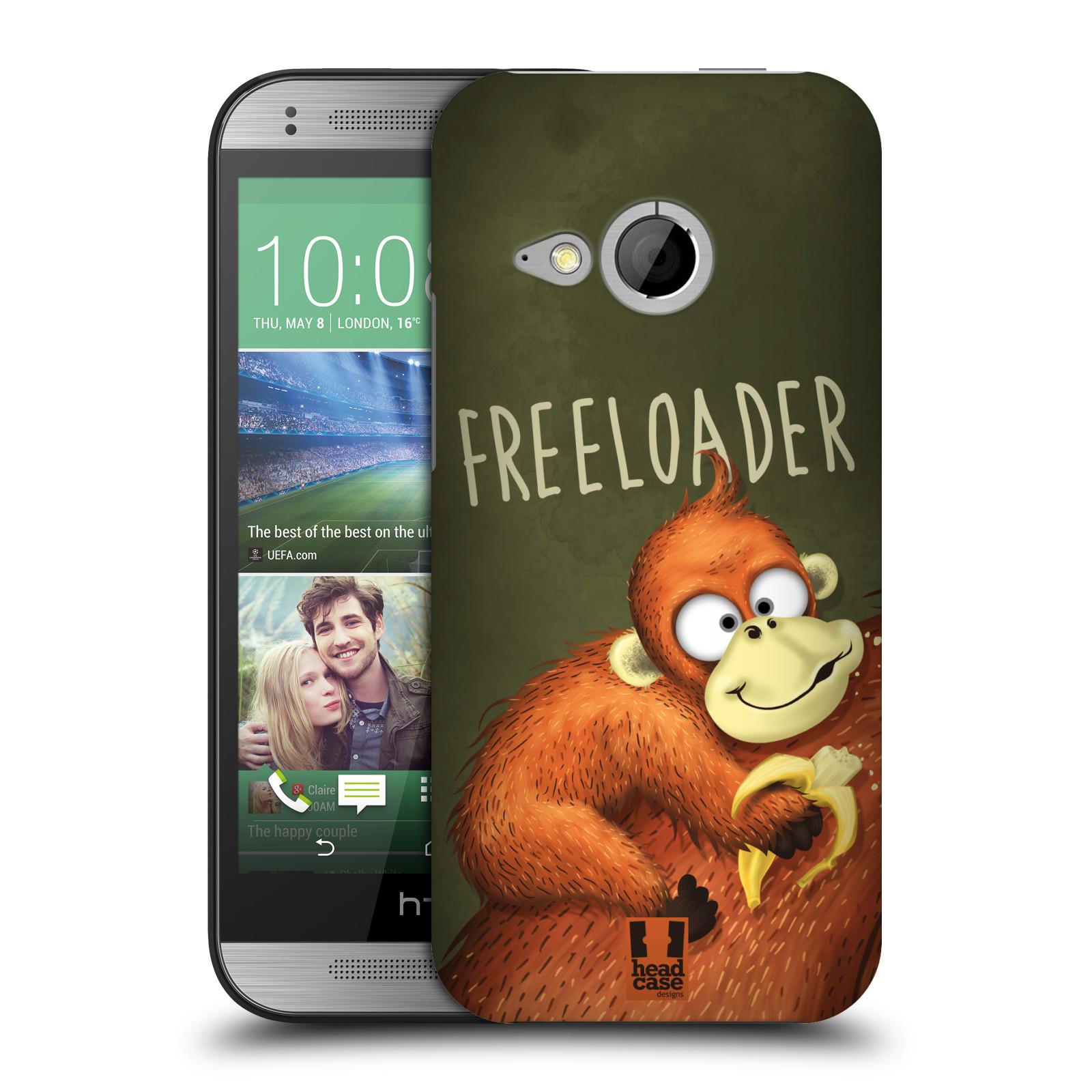 Plastové pouzdro na mobil HTC ONE Mini 2 HEAD CASE Opičák Freeloader (Kryt či obal na mobilní telefon HTC ONE Mini 2)
