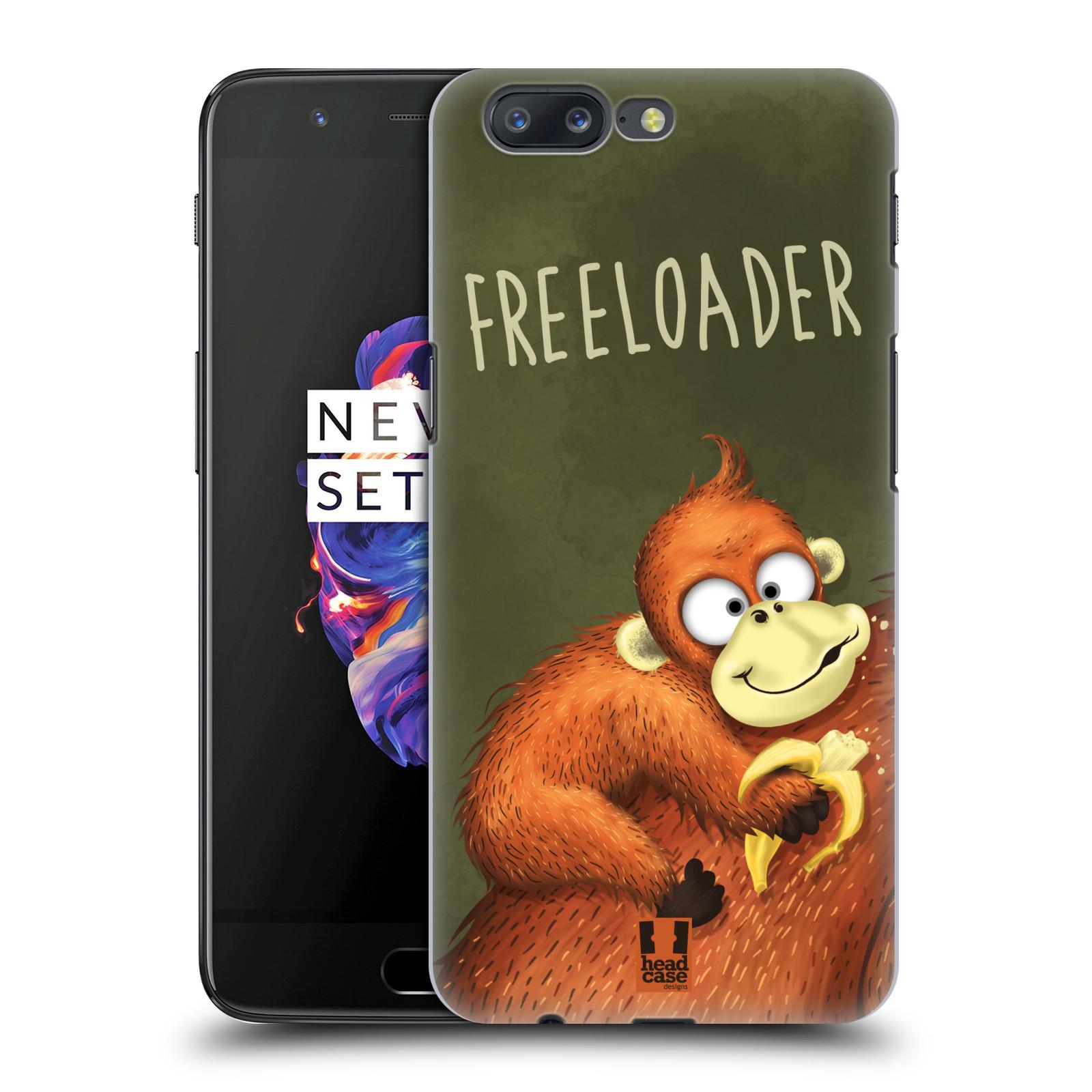 Plastové pouzdro na mobil OnePlus 5 - Head Case - Opičák Freeloader