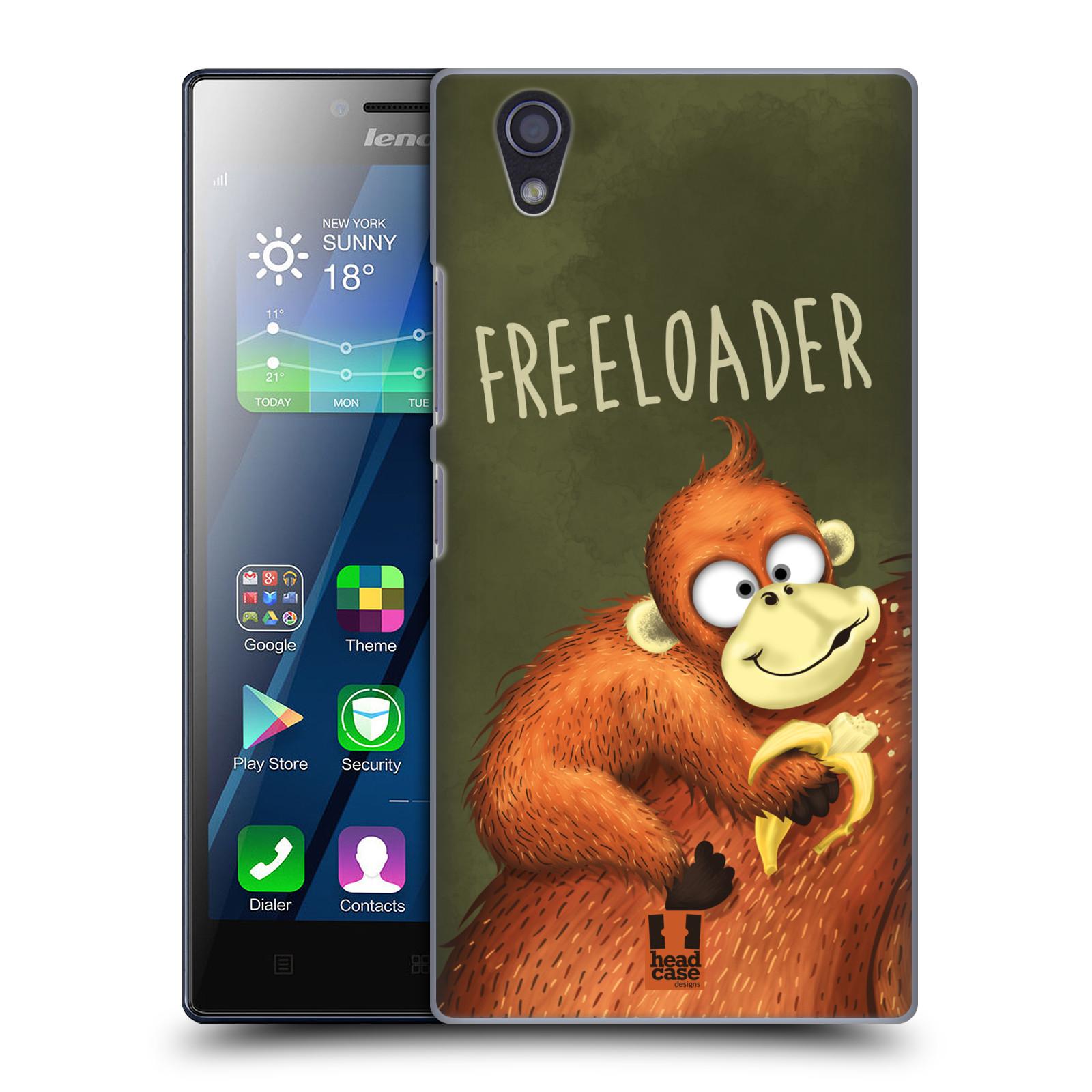 Plastové pouzdro na mobil Lenovo P70 HEAD CASE Opičák Freeloader (Kryt či obal na mobilní telefon Lenovo P70)