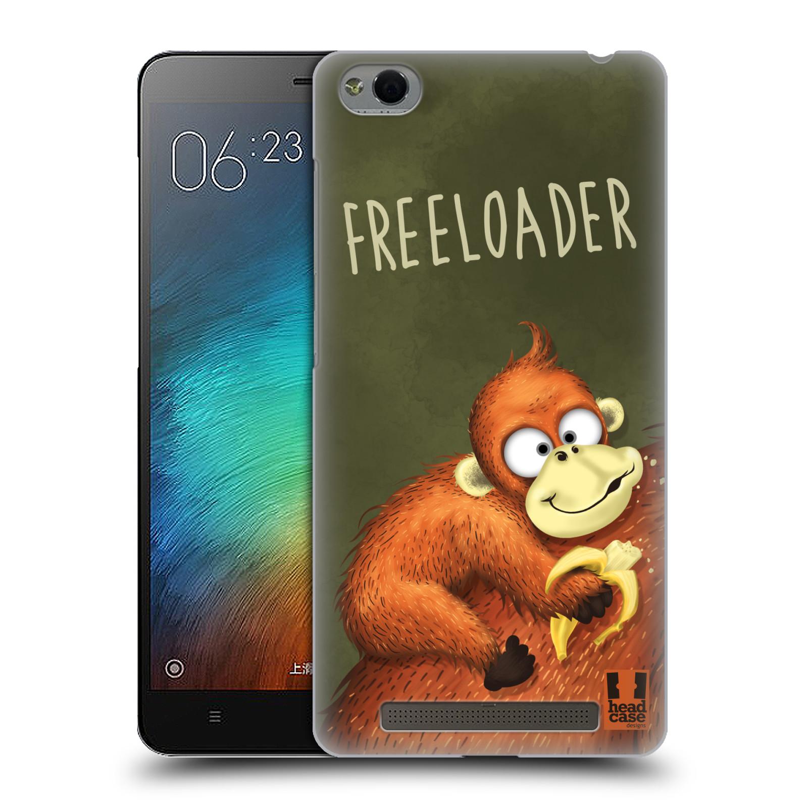 Plastové pouzdro na mobil Xiaomi Redmi 3 HEAD CASE Opičák Freeloader