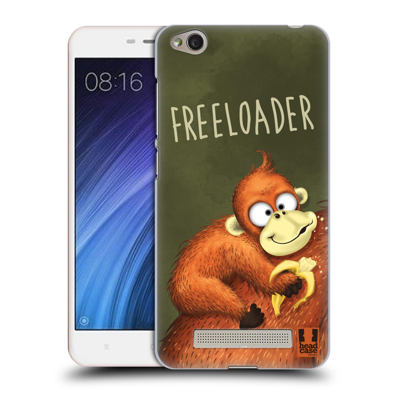 Plastové pouzdro na mobil Xiaomi Redmi 4A HEAD CASE Opičák Freeloader