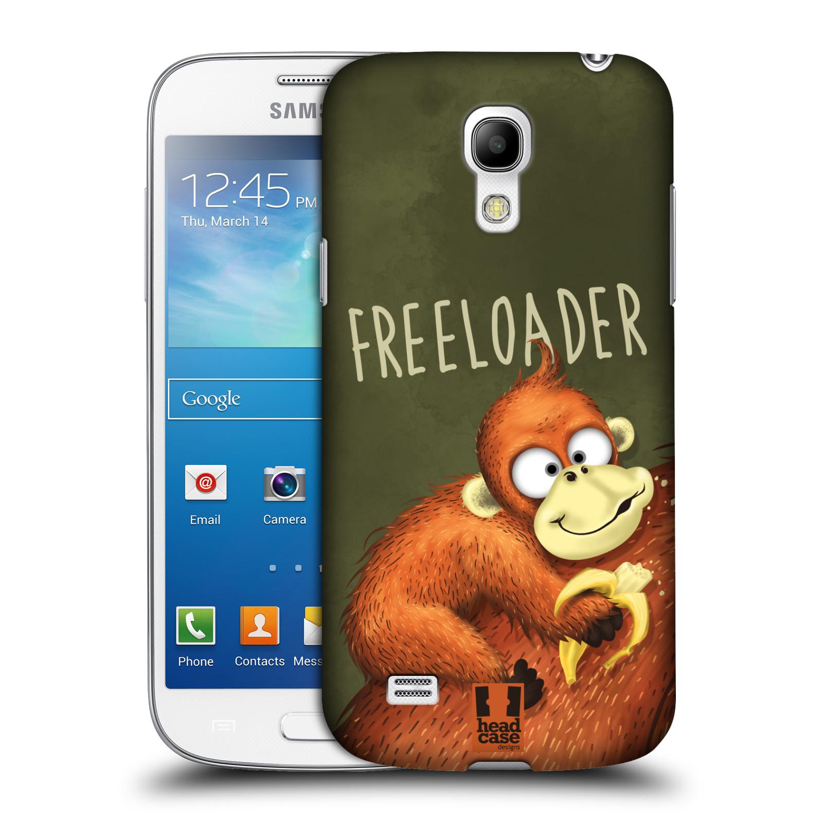 Plastové pouzdro na mobil Samsung Galaxy S4 Mini HEAD CASE Opičák Freeloader (Kryt či obal na mobilní telefon Samsung Galaxy S4 Mini GT-i9195 / i9190)