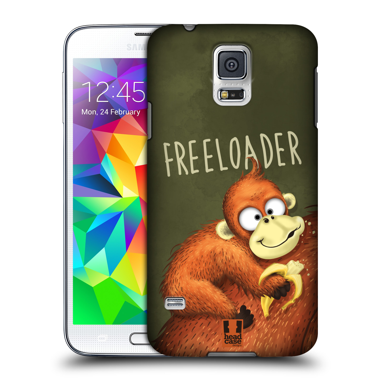 Plastové pouzdro na mobil Samsung Galaxy S5 HEAD CASE Opičák Freeloader