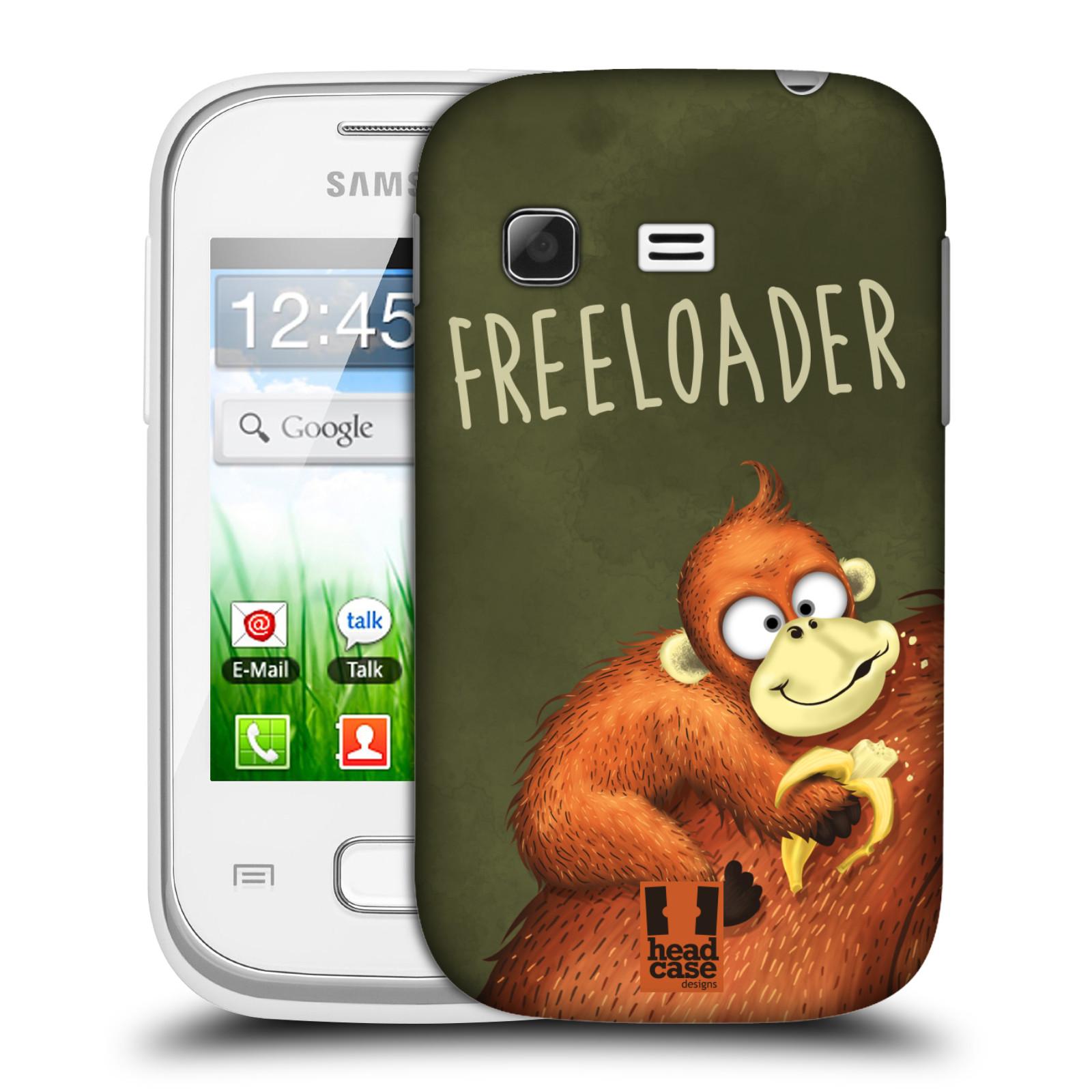 Plastové pouzdro na mobil Samsung Galaxy Pocket HEAD CASE Opičák Freeloader (Kryt či obal na mobilní telefon Samsung Galaxy Pocket GT-S5300)