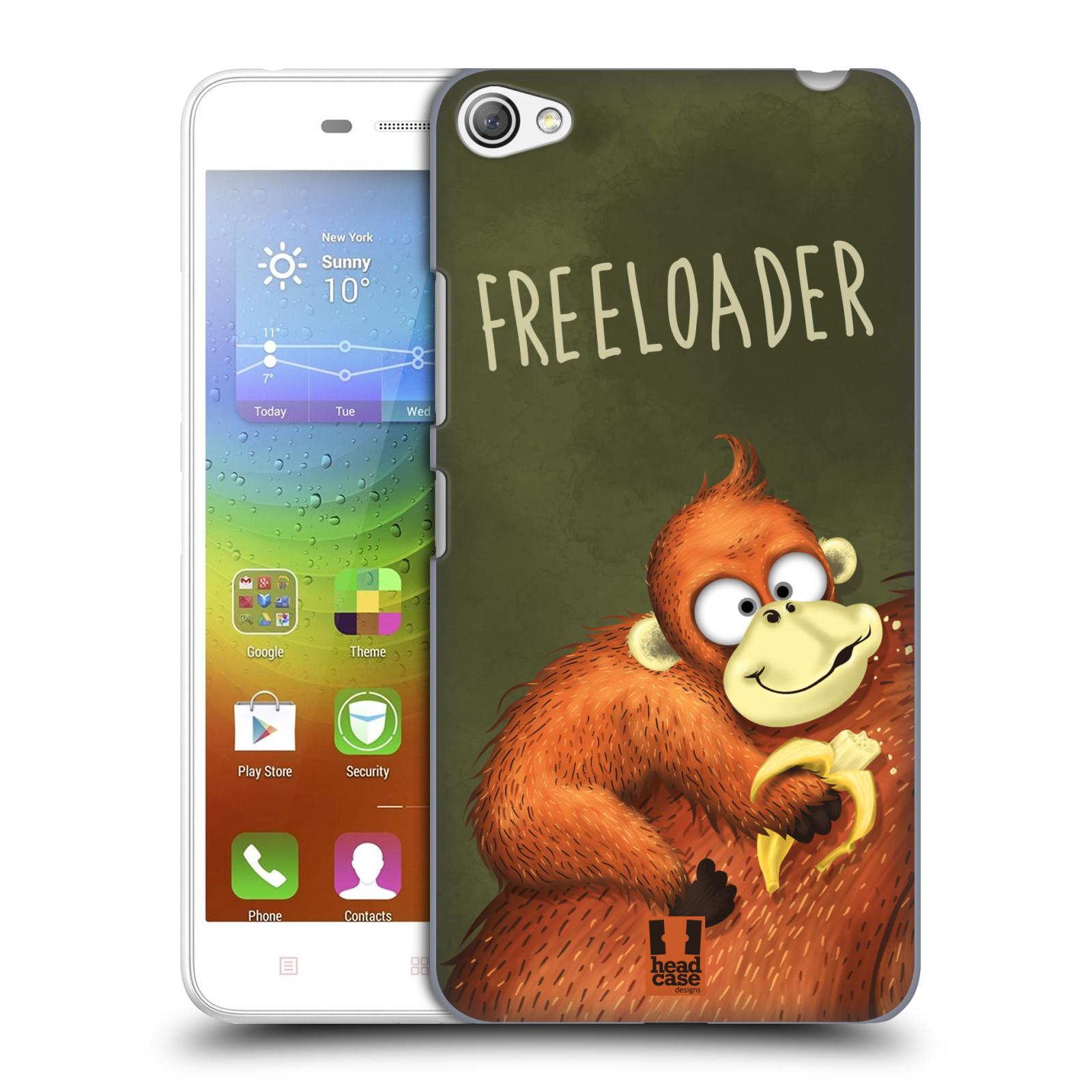 Plastové pouzdro na mobil Lenovo S60 HEAD CASE Opičák Freeloader