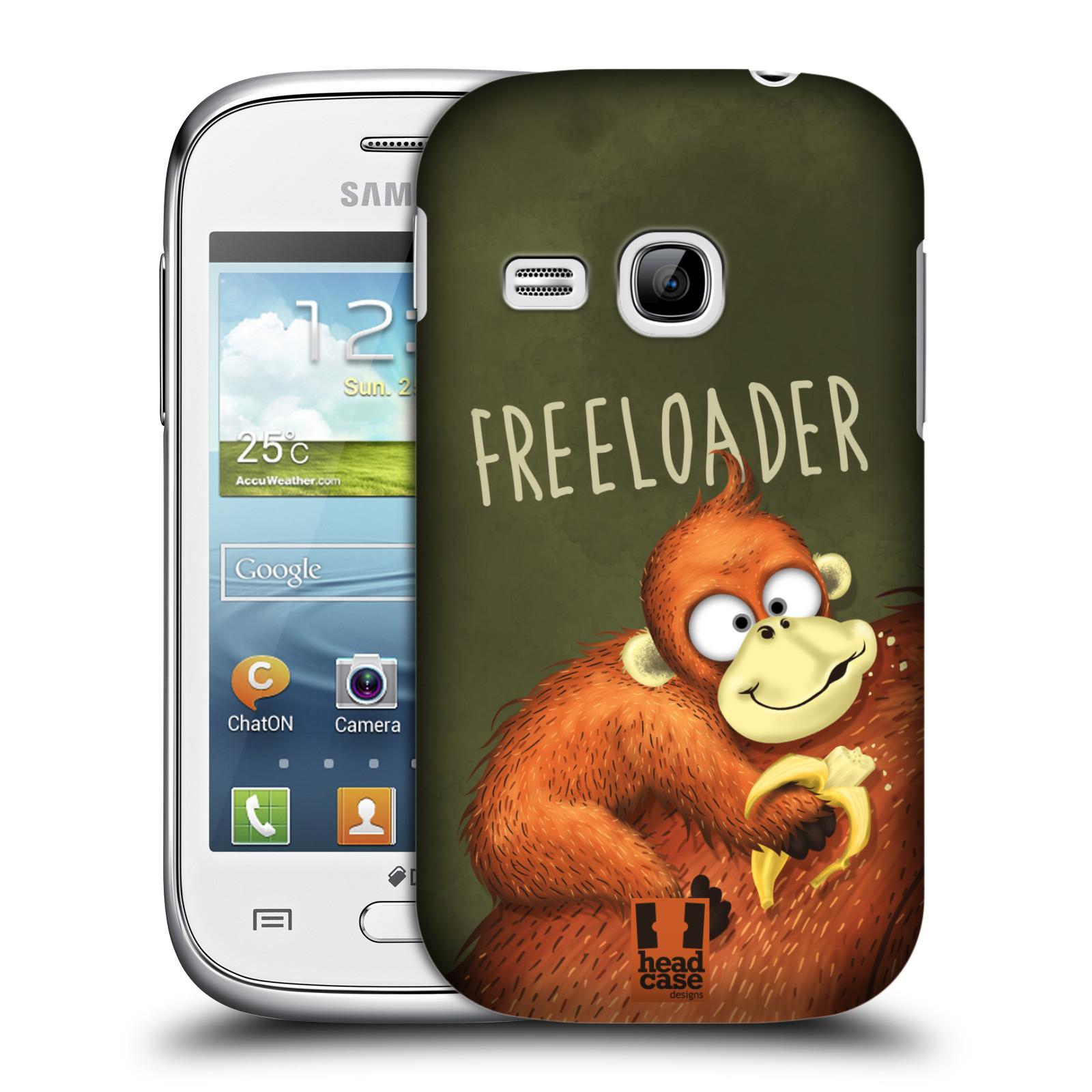 Plastové pouzdro na mobil Samsung Galaxy Young HEAD CASE Opičák Freeloader (Kryt či obal na mobilní telefon Samsung Galaxy Young GT-S6310)