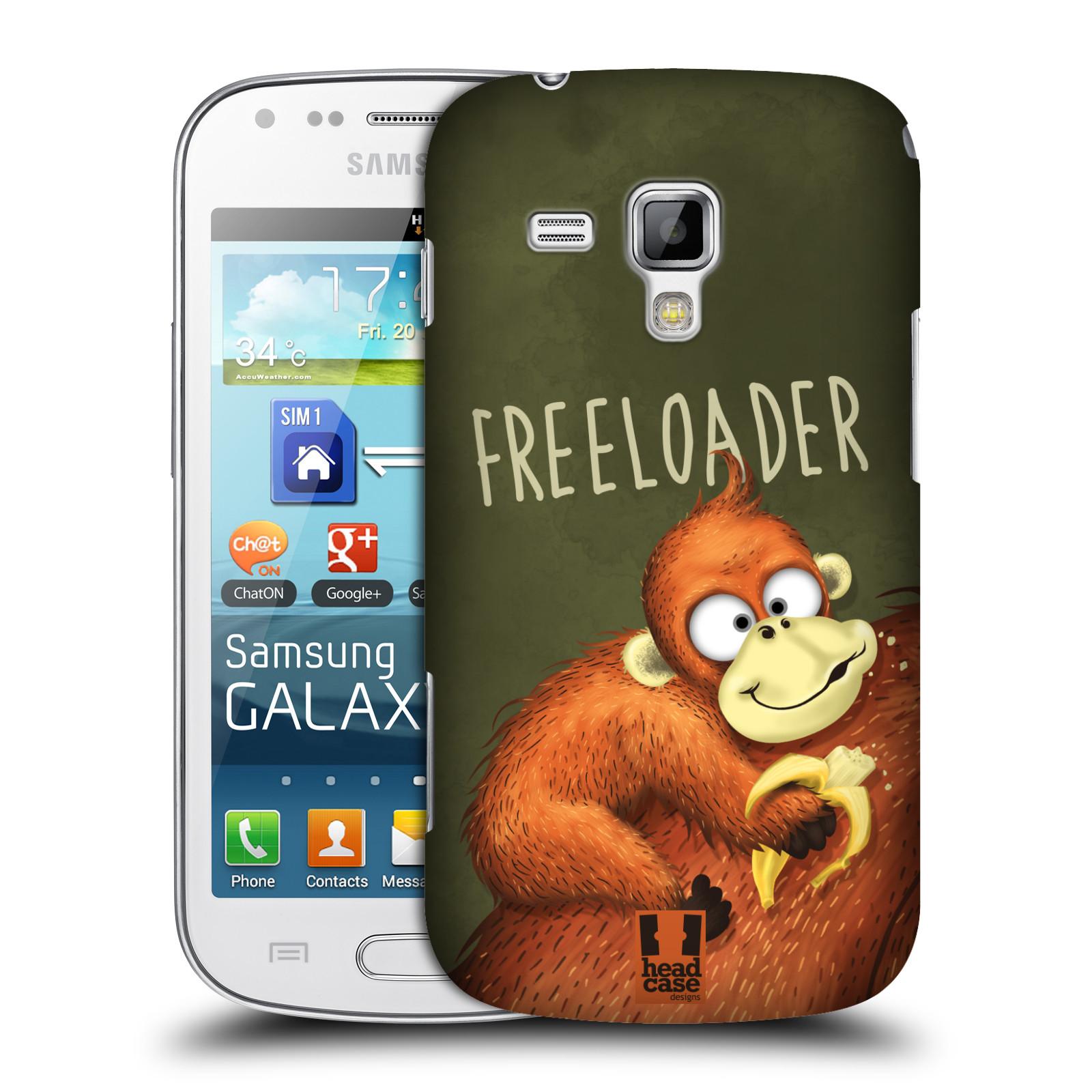 Plastové pouzdro na mobil Samsung Galaxy S Duos HEAD CASE Opičák Freeloader (Kryt či obal na mobilní telefon Samsung Galaxy S Duos GT-S7562)