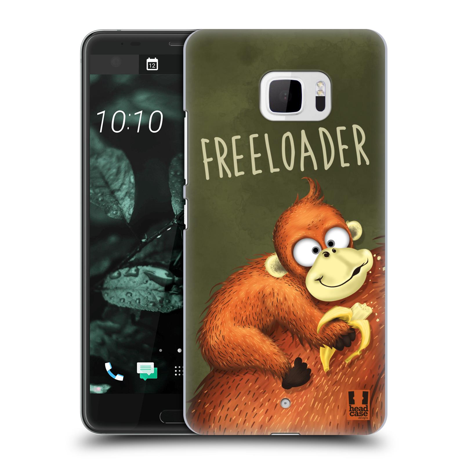 Plastové pouzdro na mobil HTC U Ultra Head Case - Opičák Freeloader