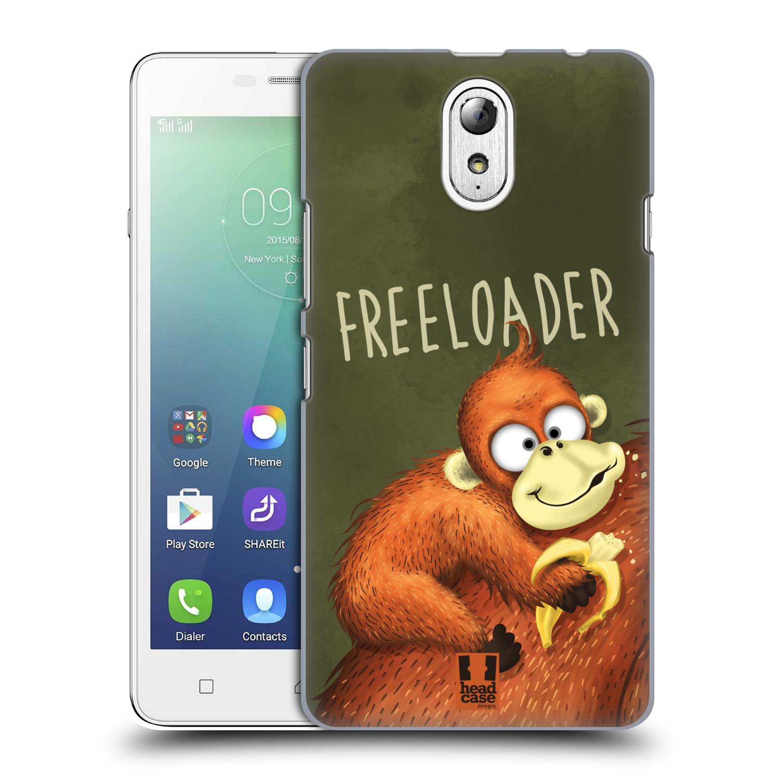 Plastové pouzdro na mobil Lenovo Vibe P1m HEAD CASE Opičák Freeloader