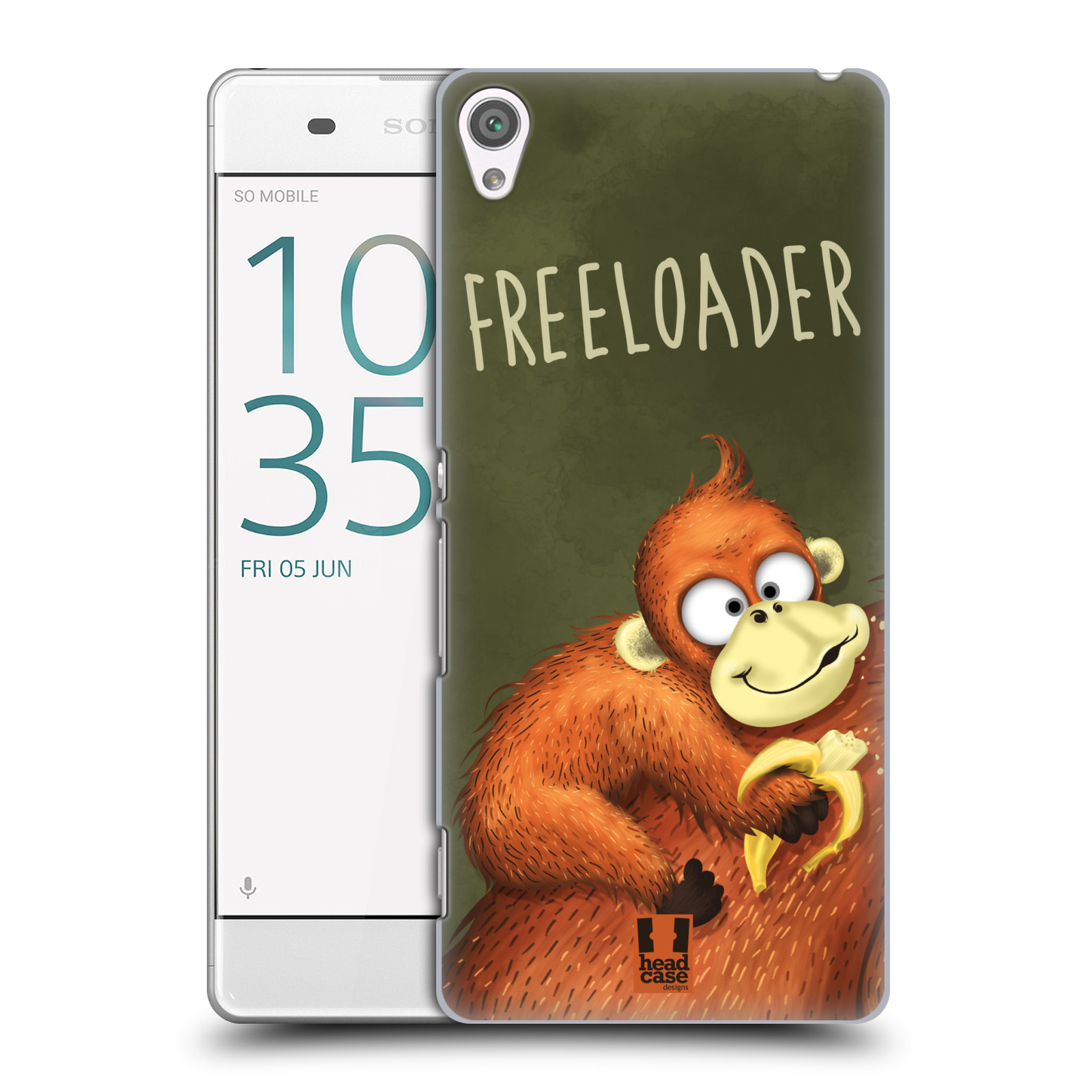 Plastové pouzdro na mobil Sony Xperia XA HEAD CASE Opičák Freeloader