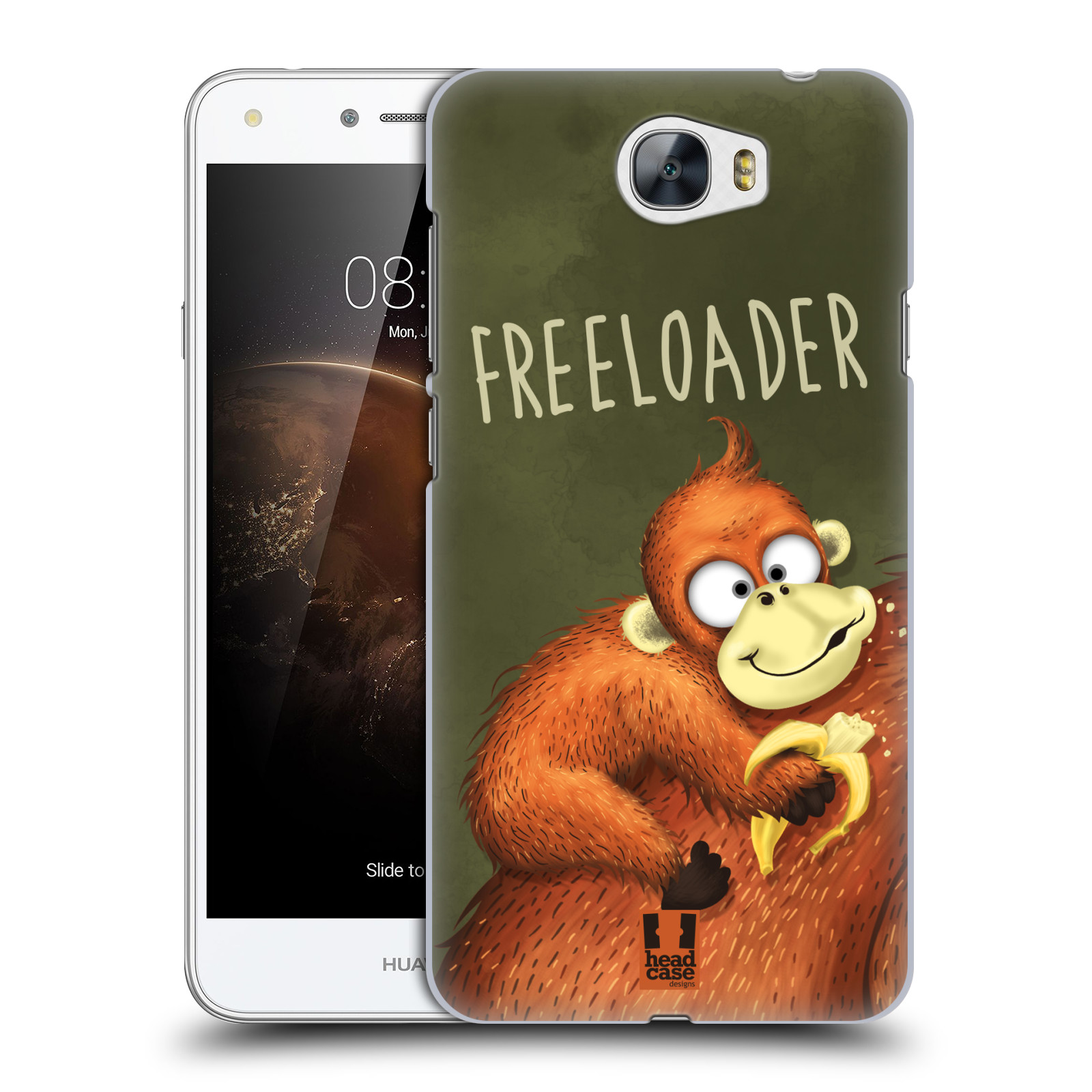 Plastové pouzdro na mobil Huawei Y5 II HEAD CASE Opičák Freeloader