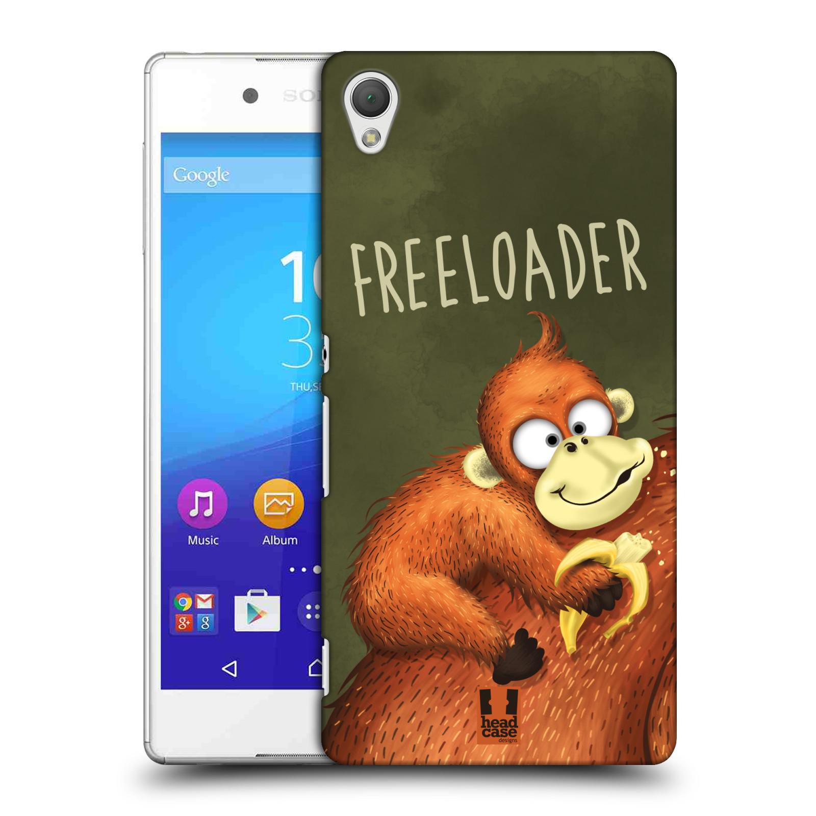 Plastové pouzdro na mobil Sony Xperia Z3+ (Plus) HEAD CASE Opičák Freeloader (Kryt či obal na mobilní telefon Sony Xperia Z3+ a Sony Xperia Z4 )