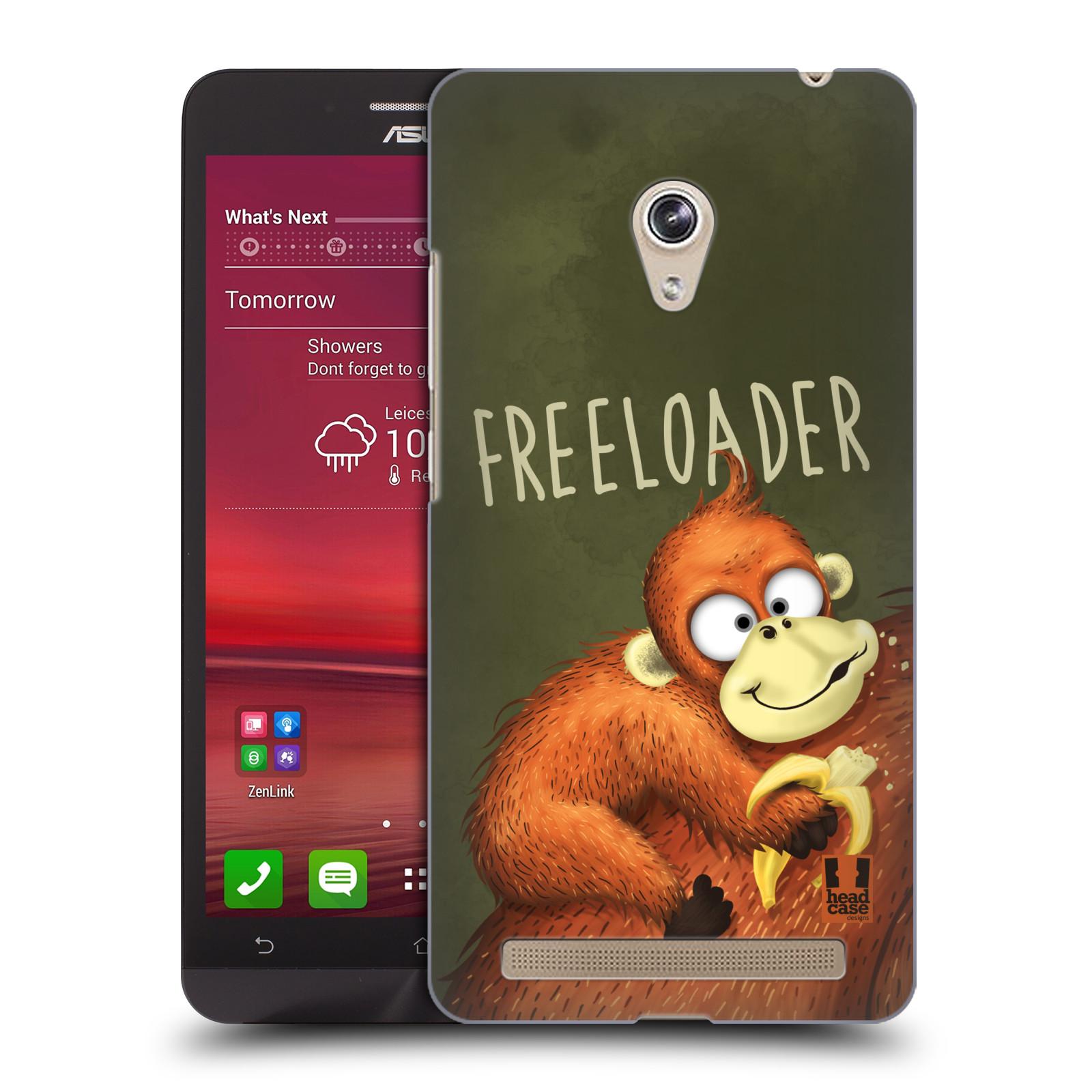 Plastové pouzdro na mobil Asus Zenfone 6 HEAD CASE Opičák Freeloader (Kryt či obal na mobilní telefon Asus Zenfone 6 A600CG / A601CG)