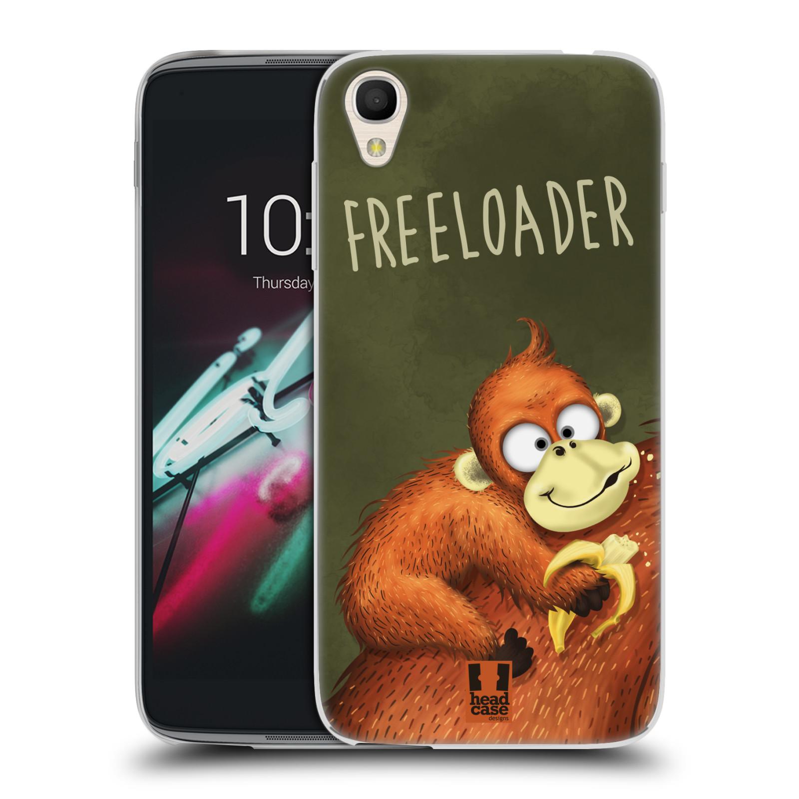 """Silikonové pouzdro na mobil Alcatel One Touch 6039Y Idol 3 HEAD CASE Opičák Freeloader (Silikonový kryt či obal na mobilní telefon Alcatel One Touch Idol 3 OT-6039Y s 4,7"""" displejem)"""