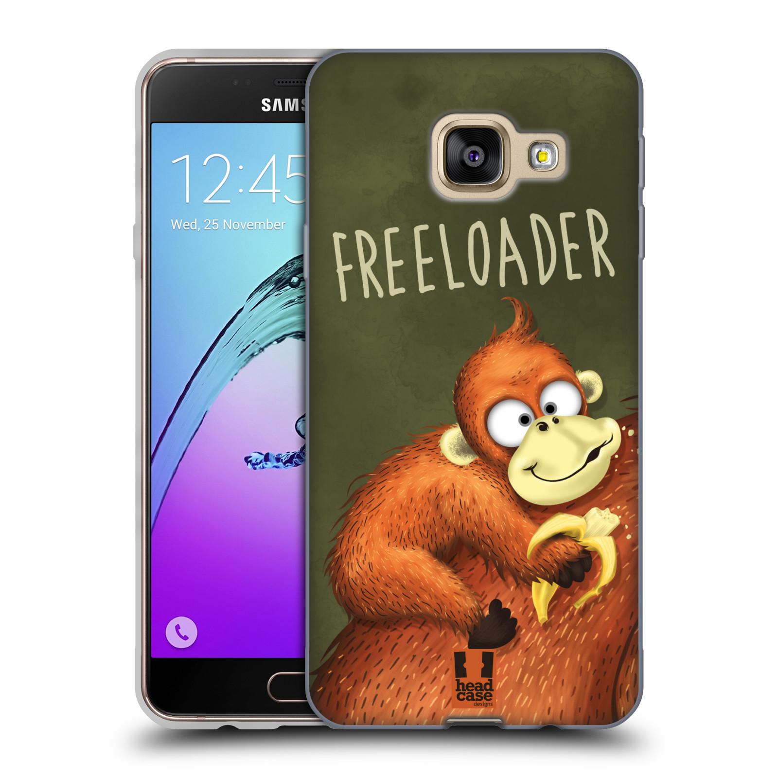 Silikonové pouzdro na mobil Samsung Galaxy A3 (2016) HEAD CASE Opičák Freeloader