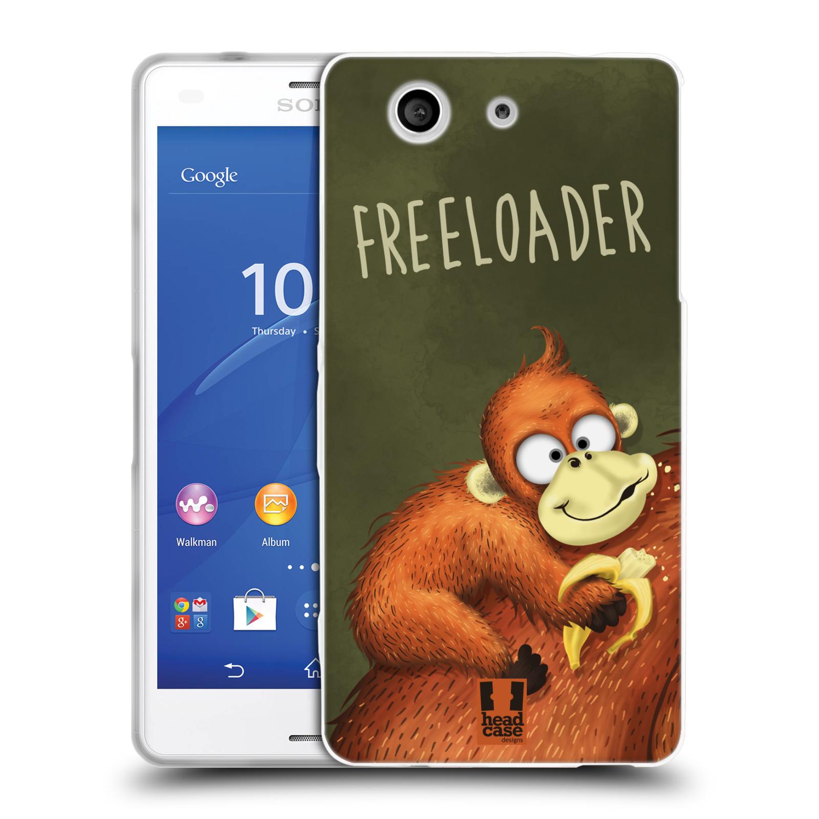 Silikonové pouzdro na mobil Sony Xperia Z3 Compact D5803 HEAD CASE Opičák Freeloader