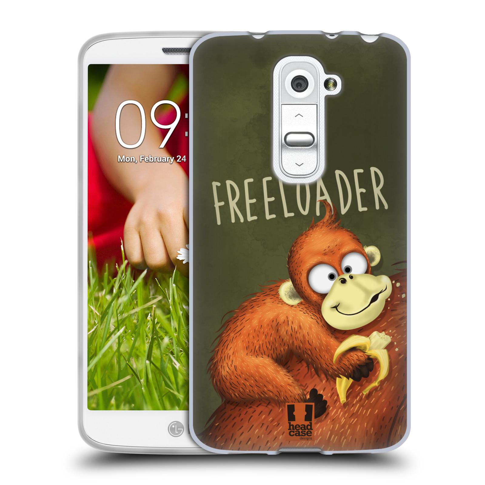 Silikonové pouzdro na mobil LG G2 Mini HEAD CASE Opičák Freeloader (Silikonový kryt či obal na mobilní telefon LG G2 Mini D620)