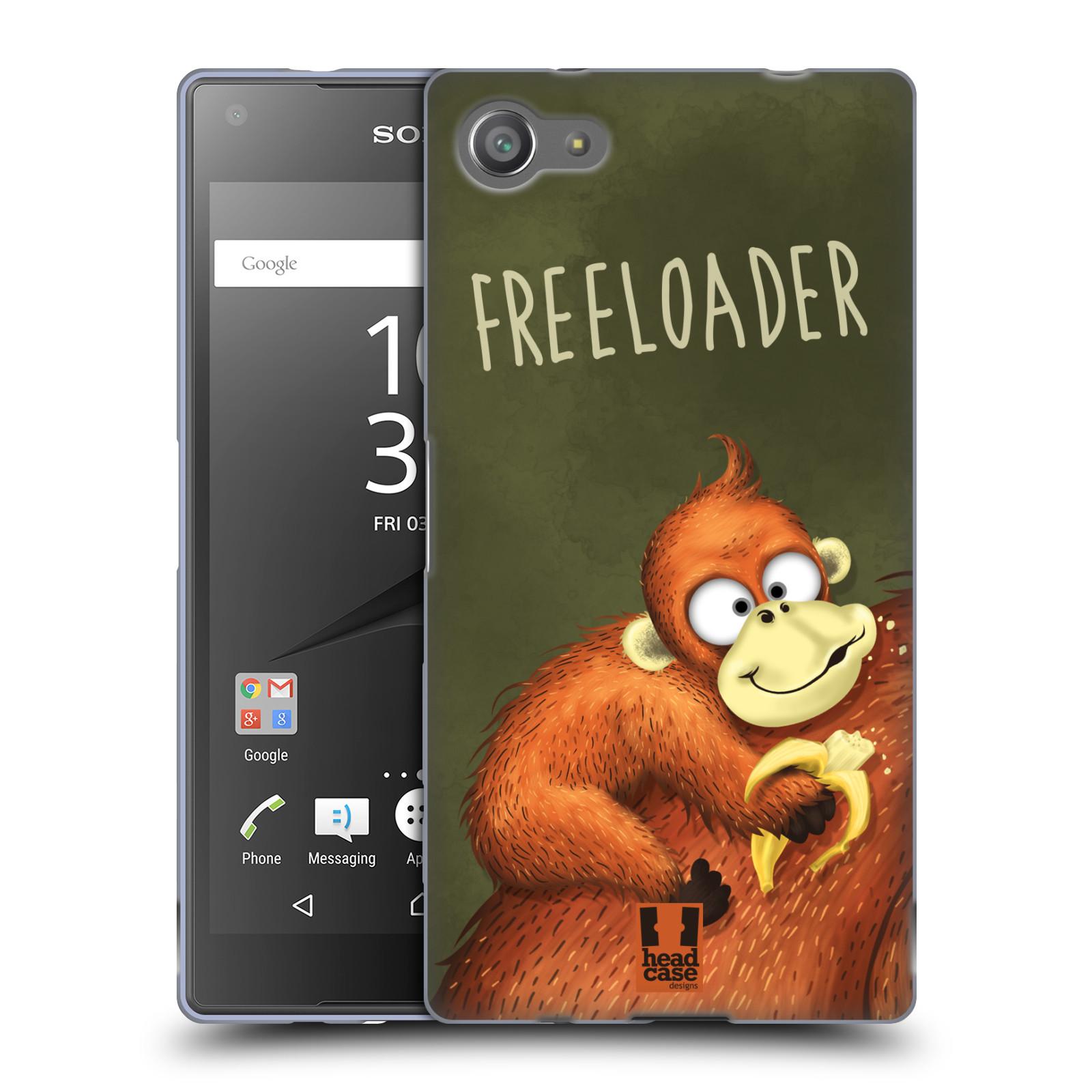 Silikonové pouzdro na mobil Sony Xperia Z5 Compact HEAD CASE Opičák Freeloader