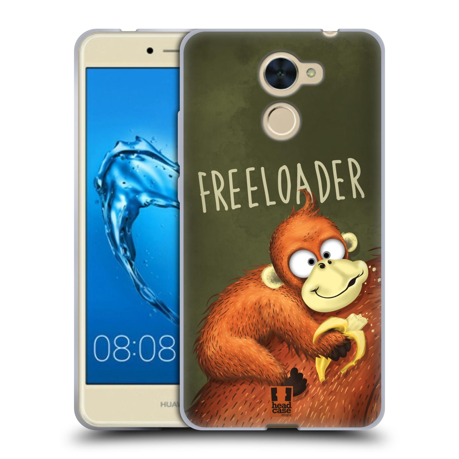 Silikonové pouzdro na mobil Huawei Y7 - Head Case - Opičák Freeloader